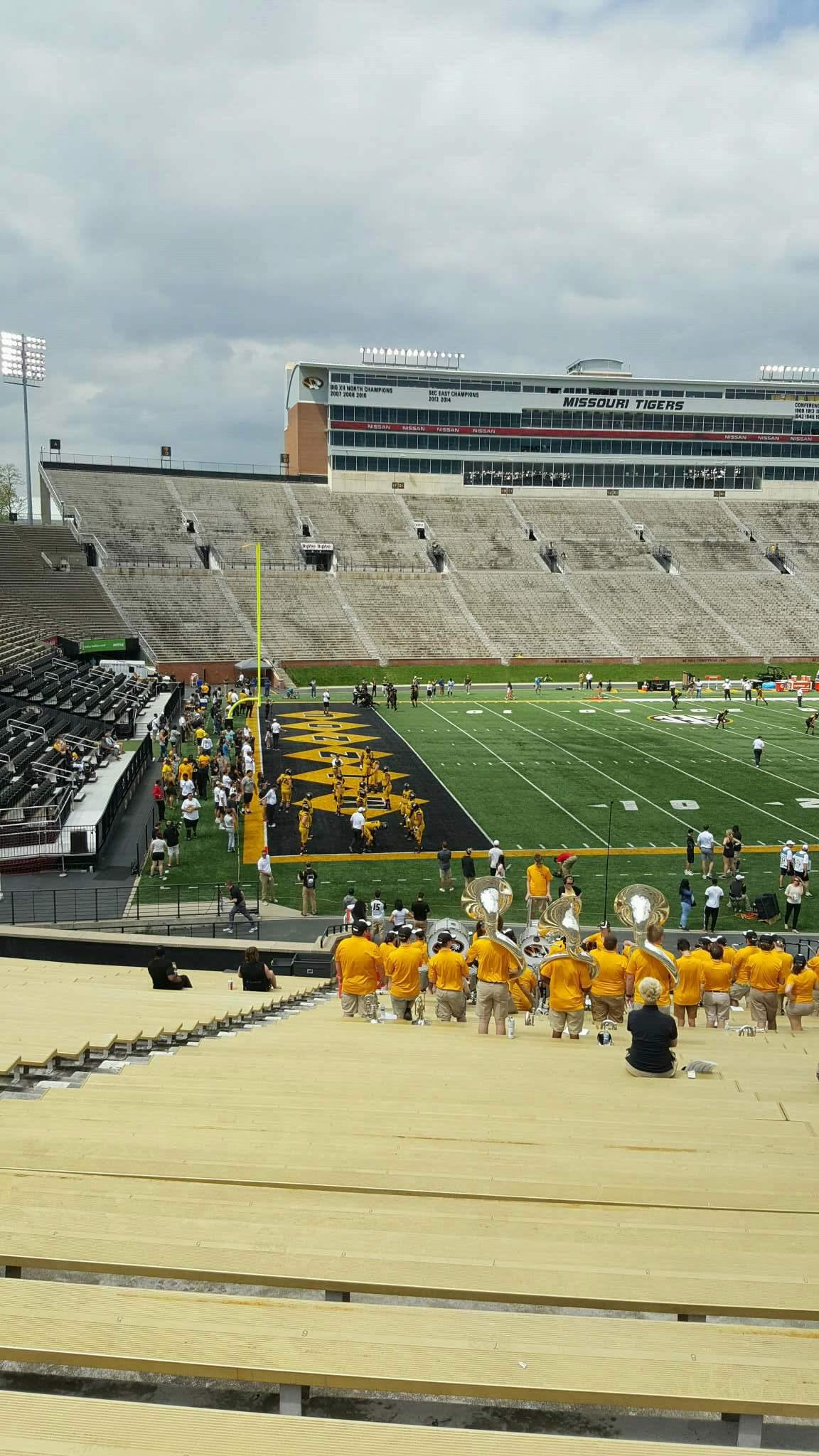 Faurot Field  Section 102 Row 35 Seat 22