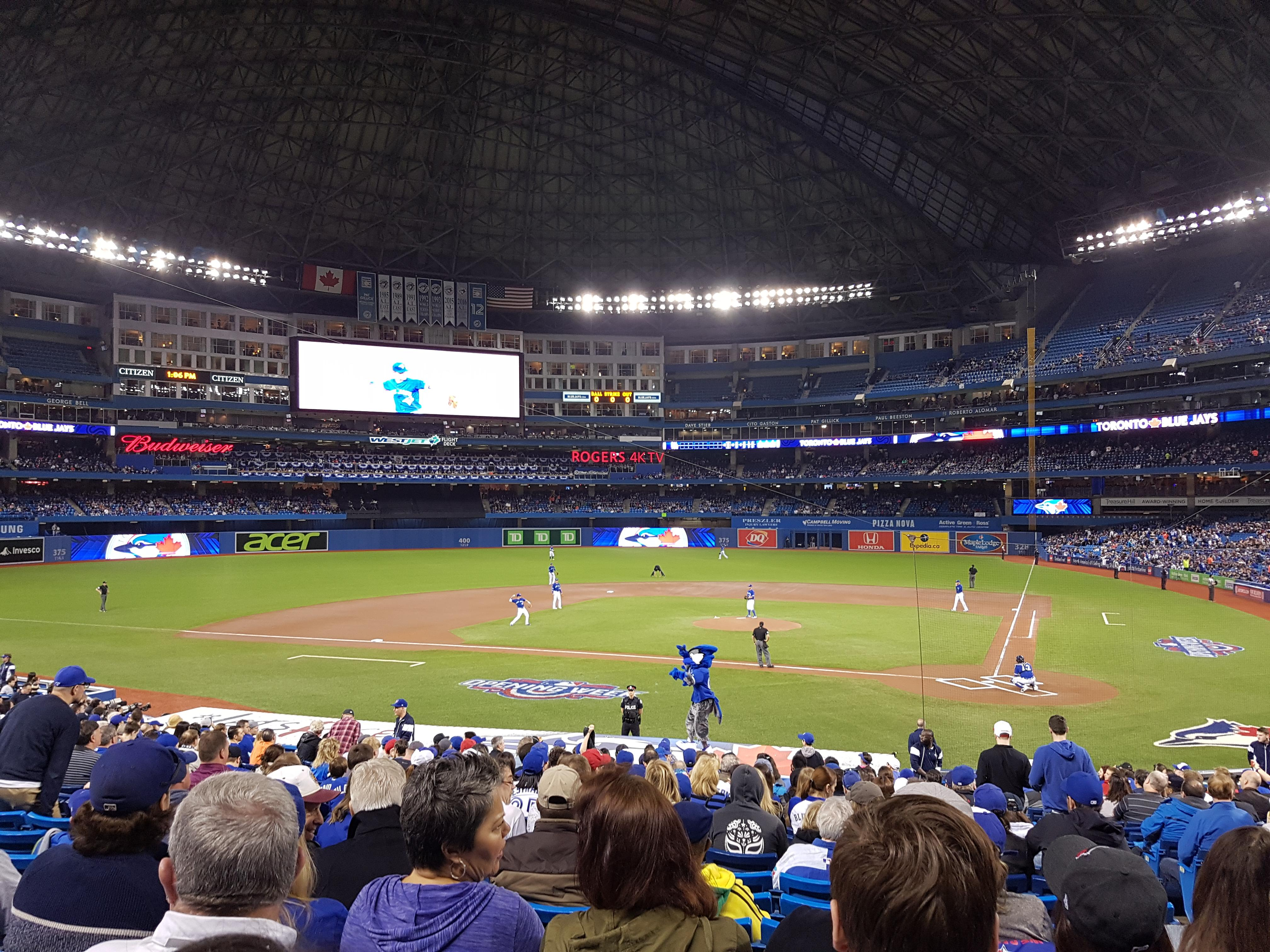 Rogers Centre Section 124L Row 28 Seat 103