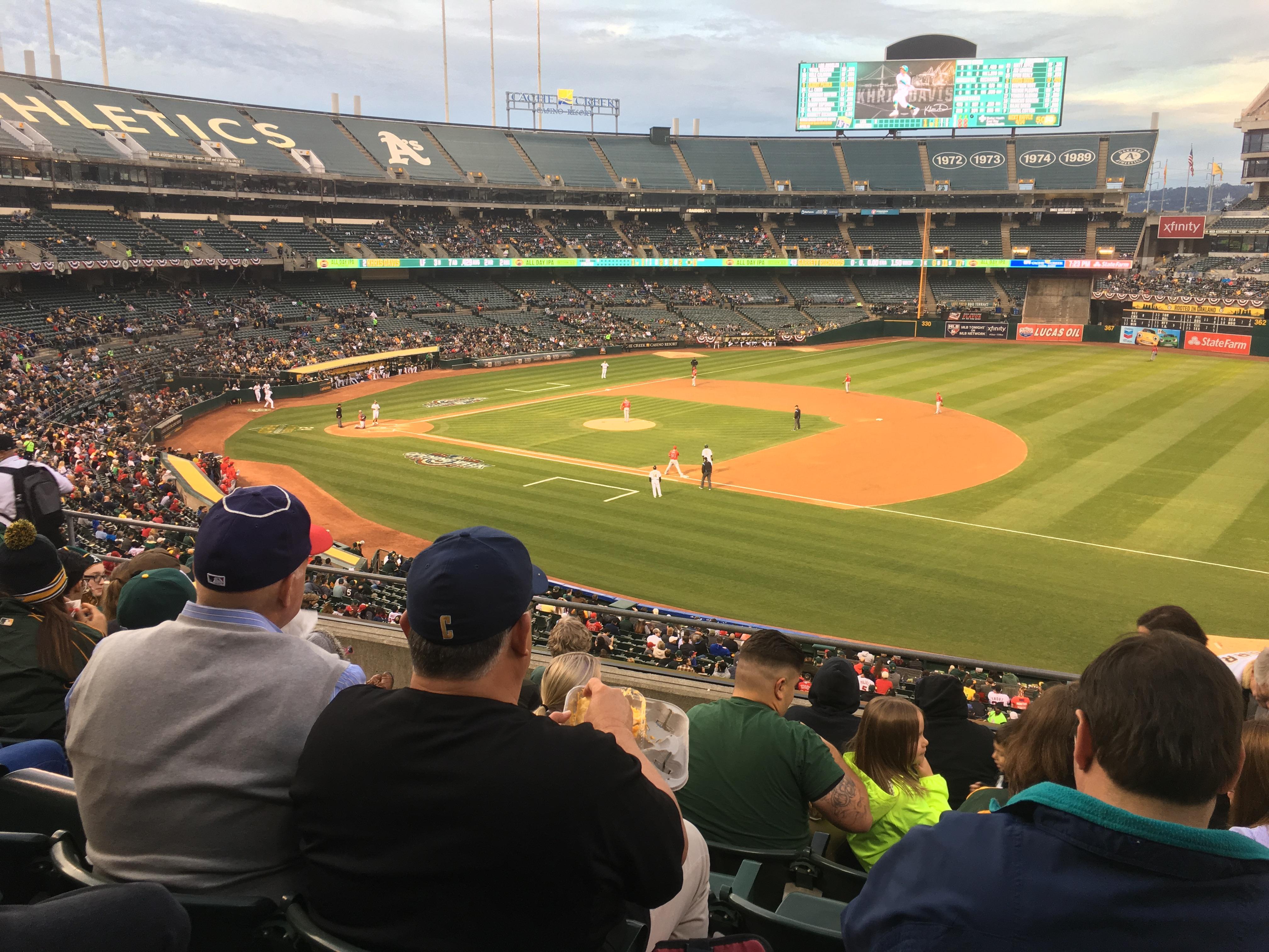 Oakland Coliseum Section 209 Row 7 Seat 3