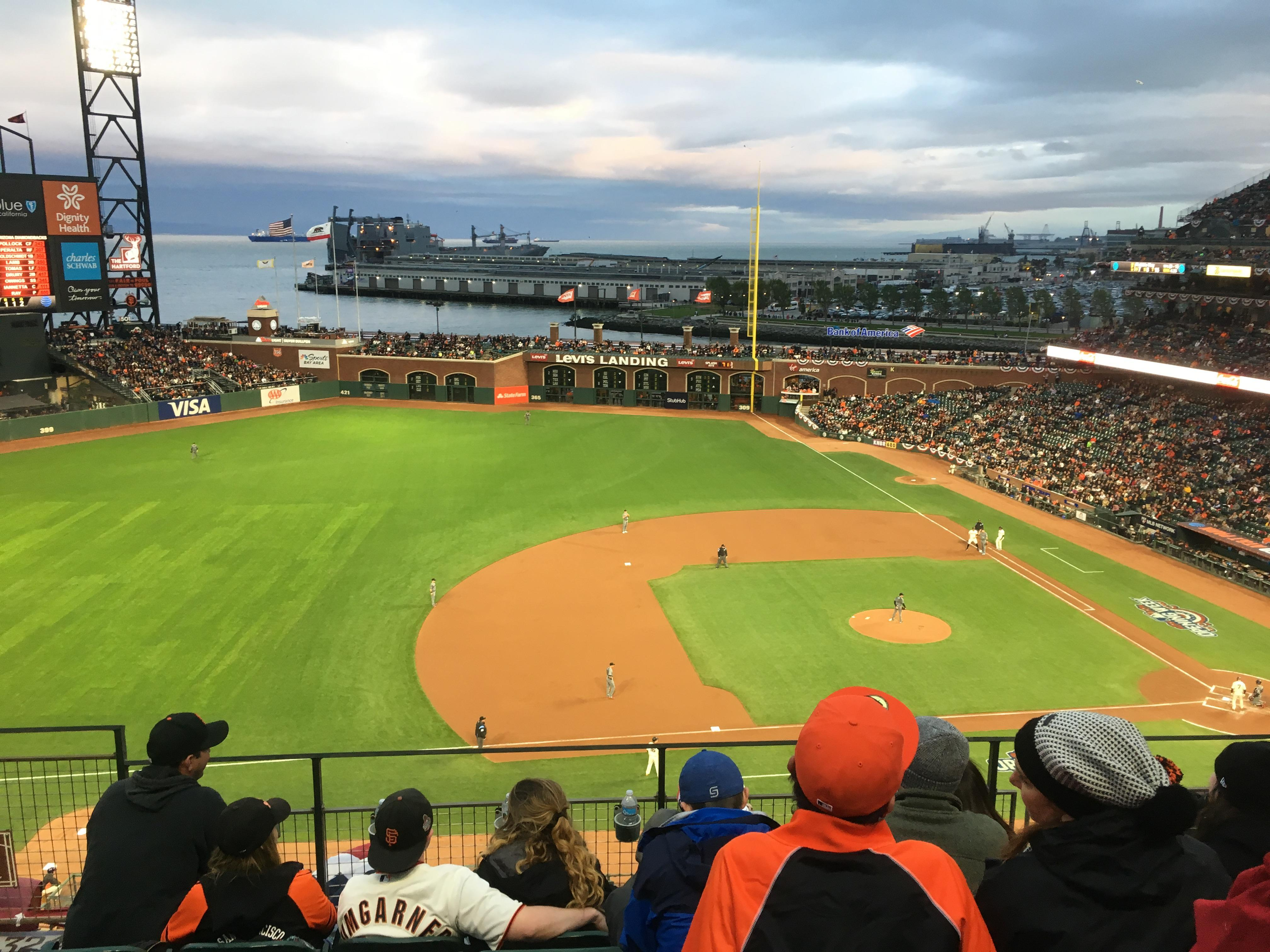 Oracle Park Section VB324 Row E Seat 21