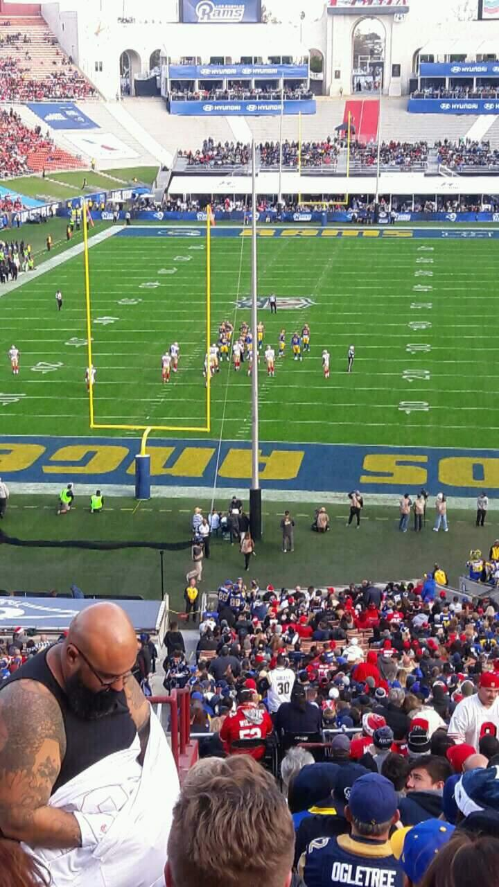 Los Angeles Memorial Coliseum Section 213 Row 17 Seat 45