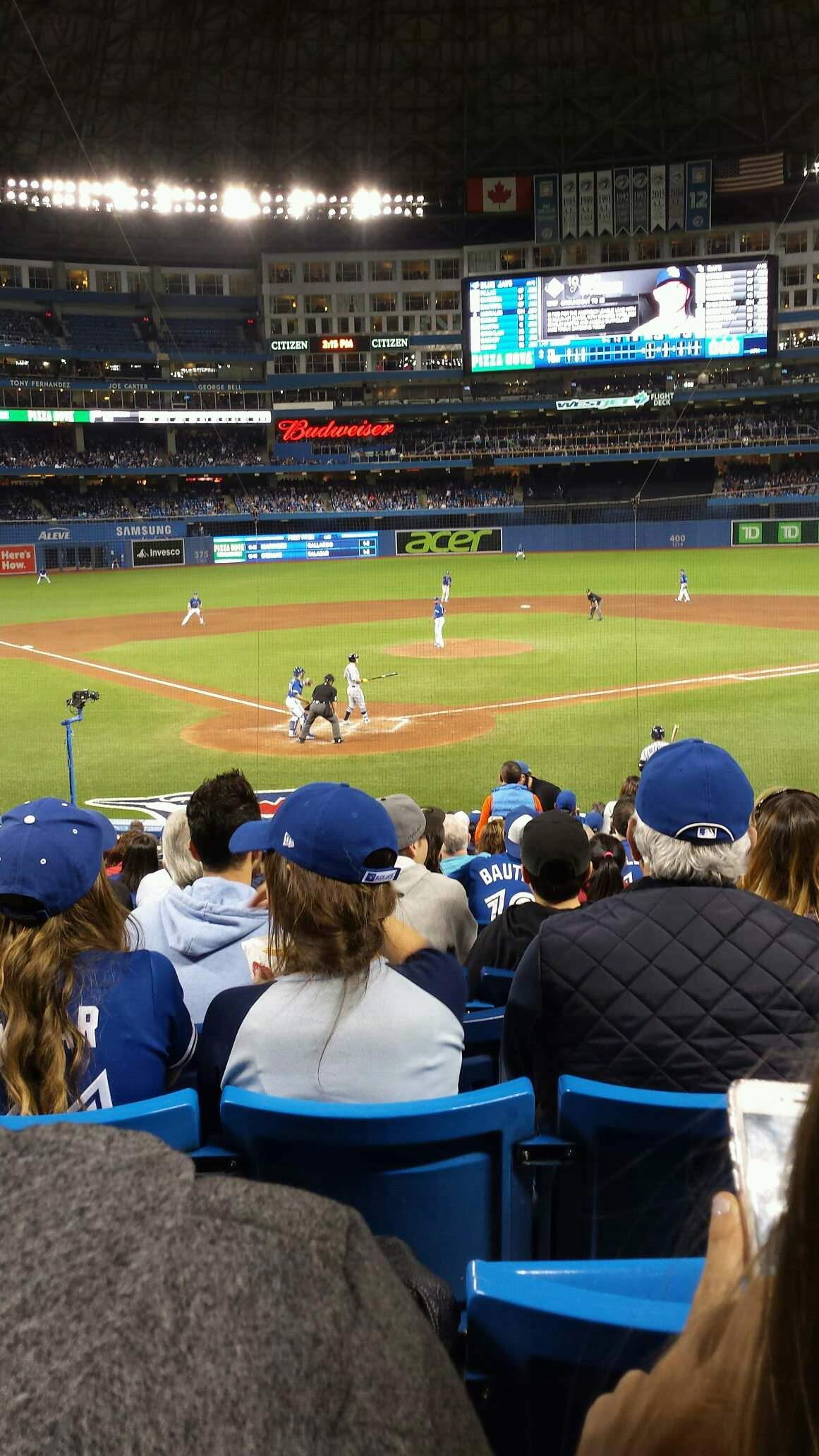 Rogers Centre Section 120L Row 24 Seat 109