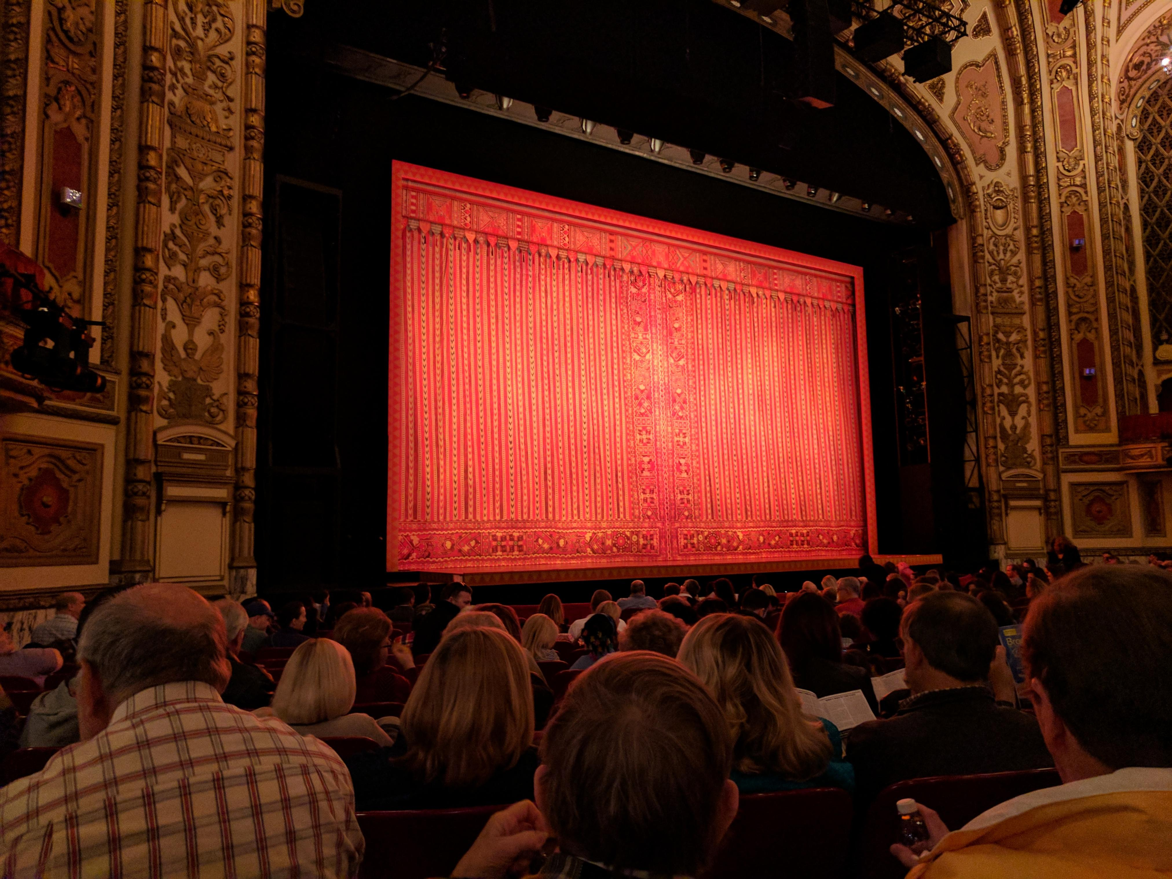 Cadillac Palace Theater Section Orchestra L Row N Seat 19