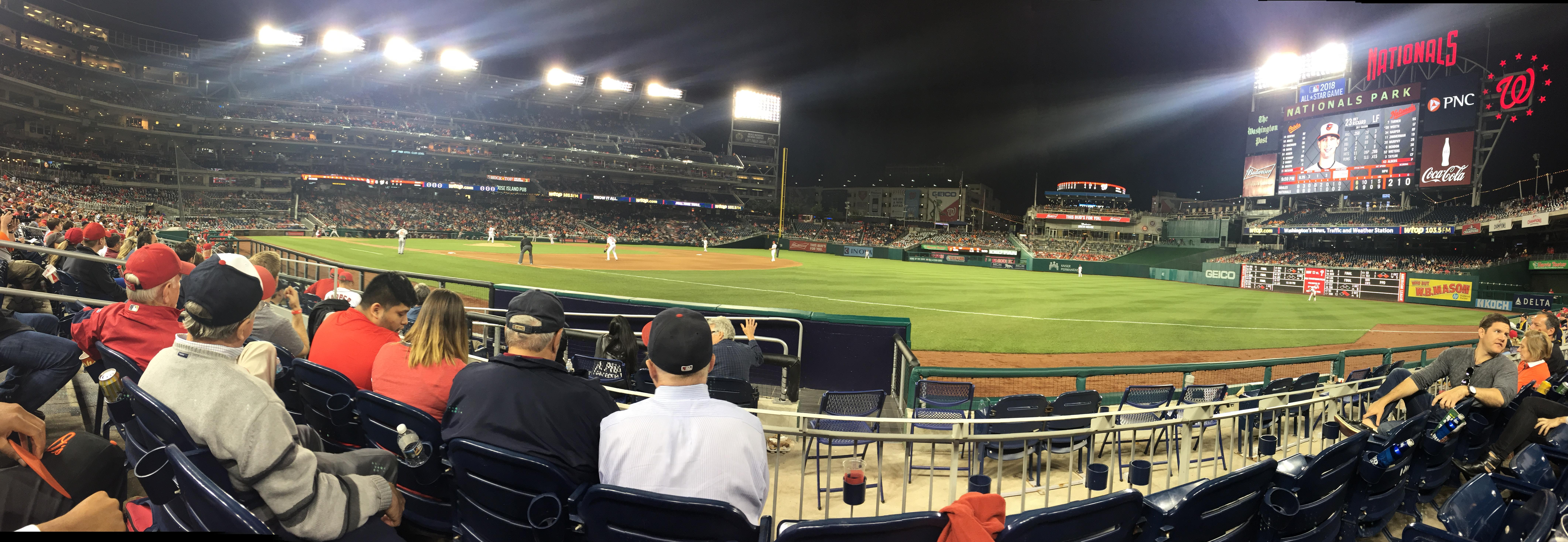 Nationals Park Section 133 Row F Seat 13