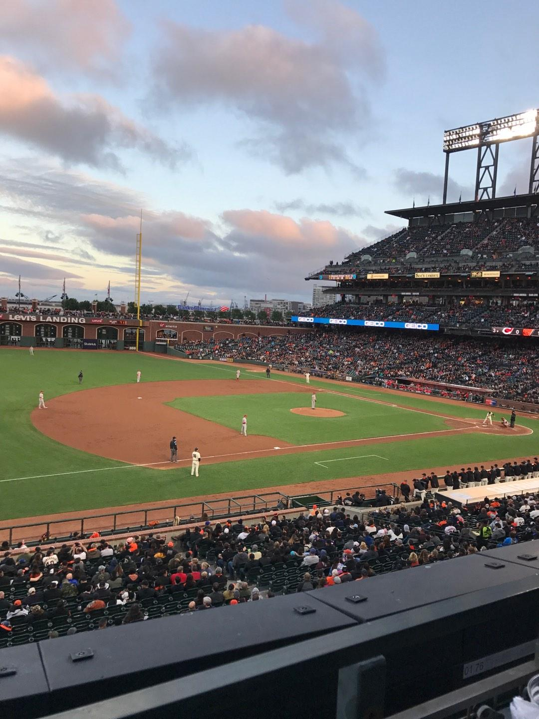 Oracle Park Section 226 Row A Seat 2