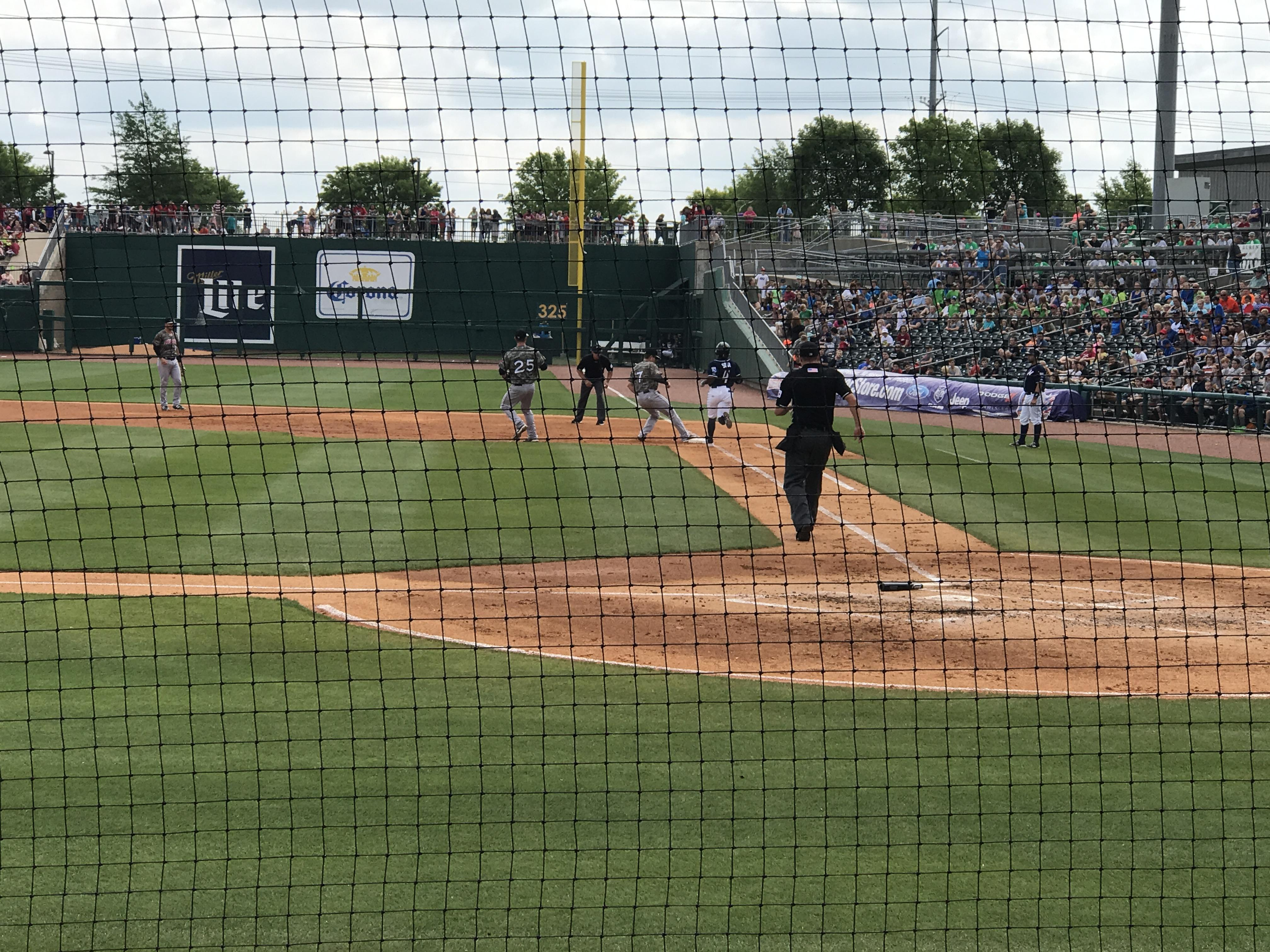 Arvest Ballpark Section 114 Row B Seat 6