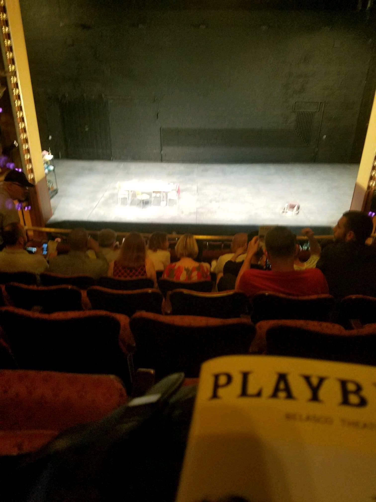 Belasco Theatre Section Mezzanine C Row f Seat 107