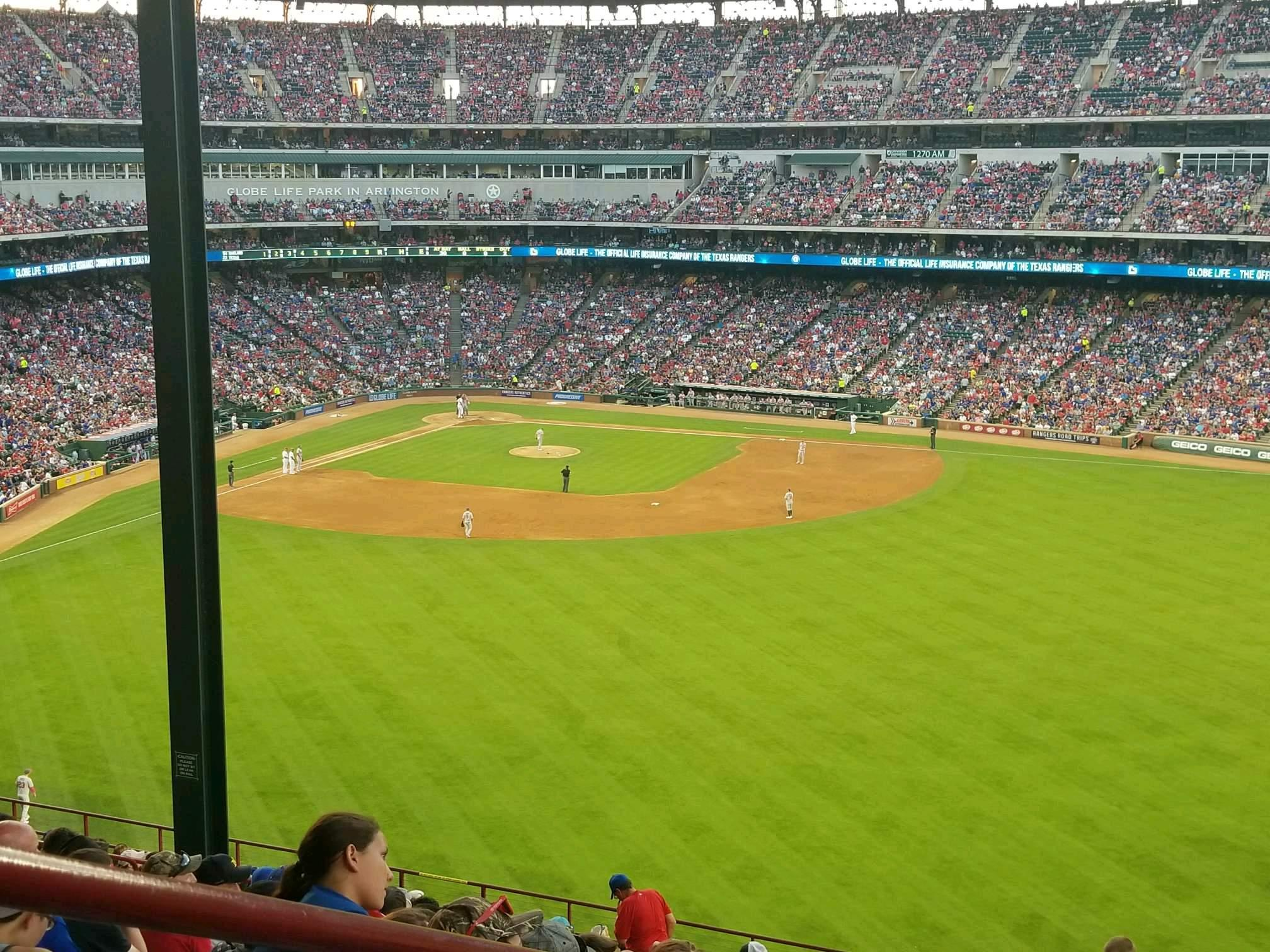 Globe Life Park in Arlington Section 252 Row 22 Seat 1