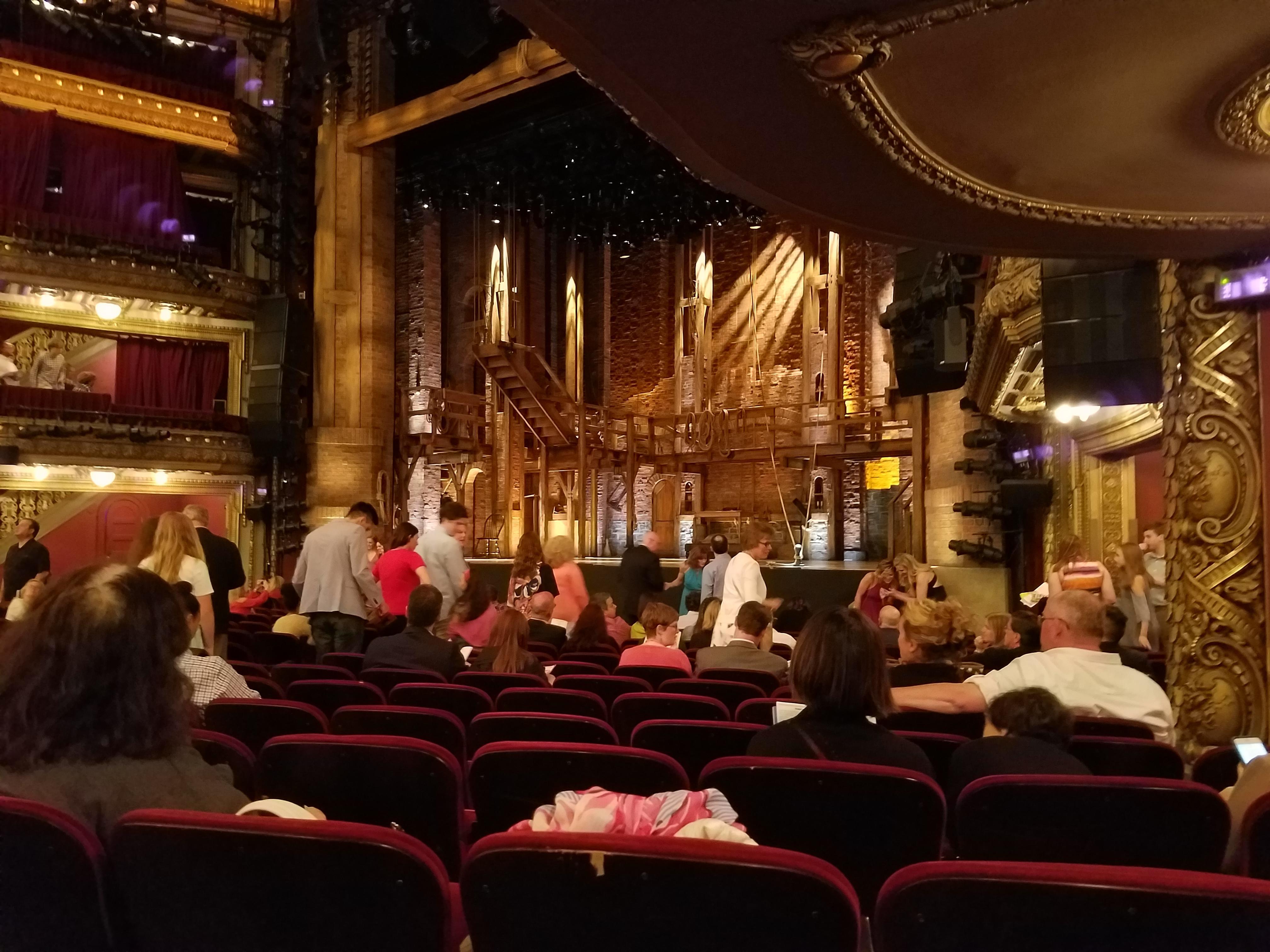 CIBC Theatre Section Orchestra R Row Q Seat 20