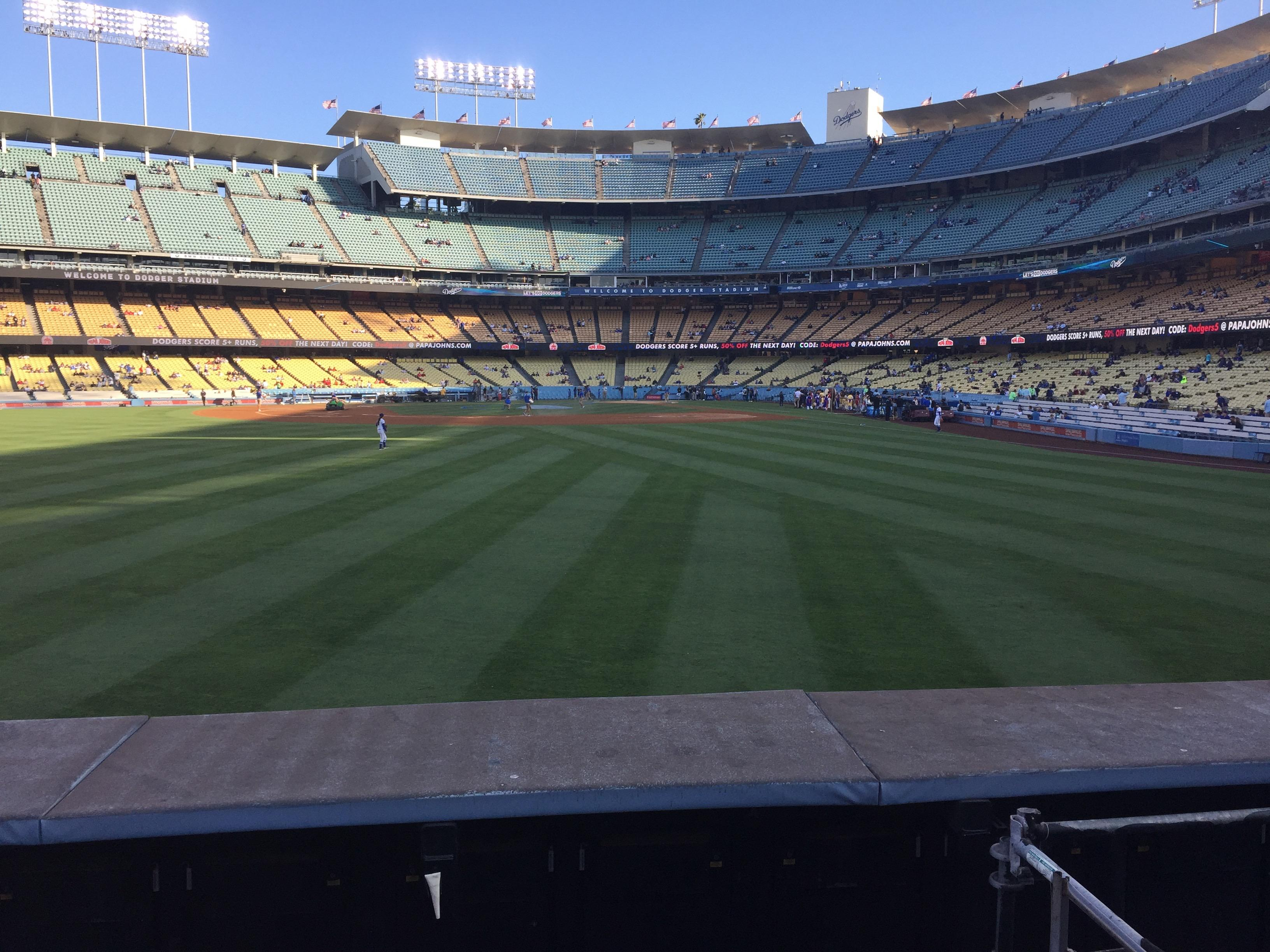 Dodger Stadium Section 305PL Row A Seat 5