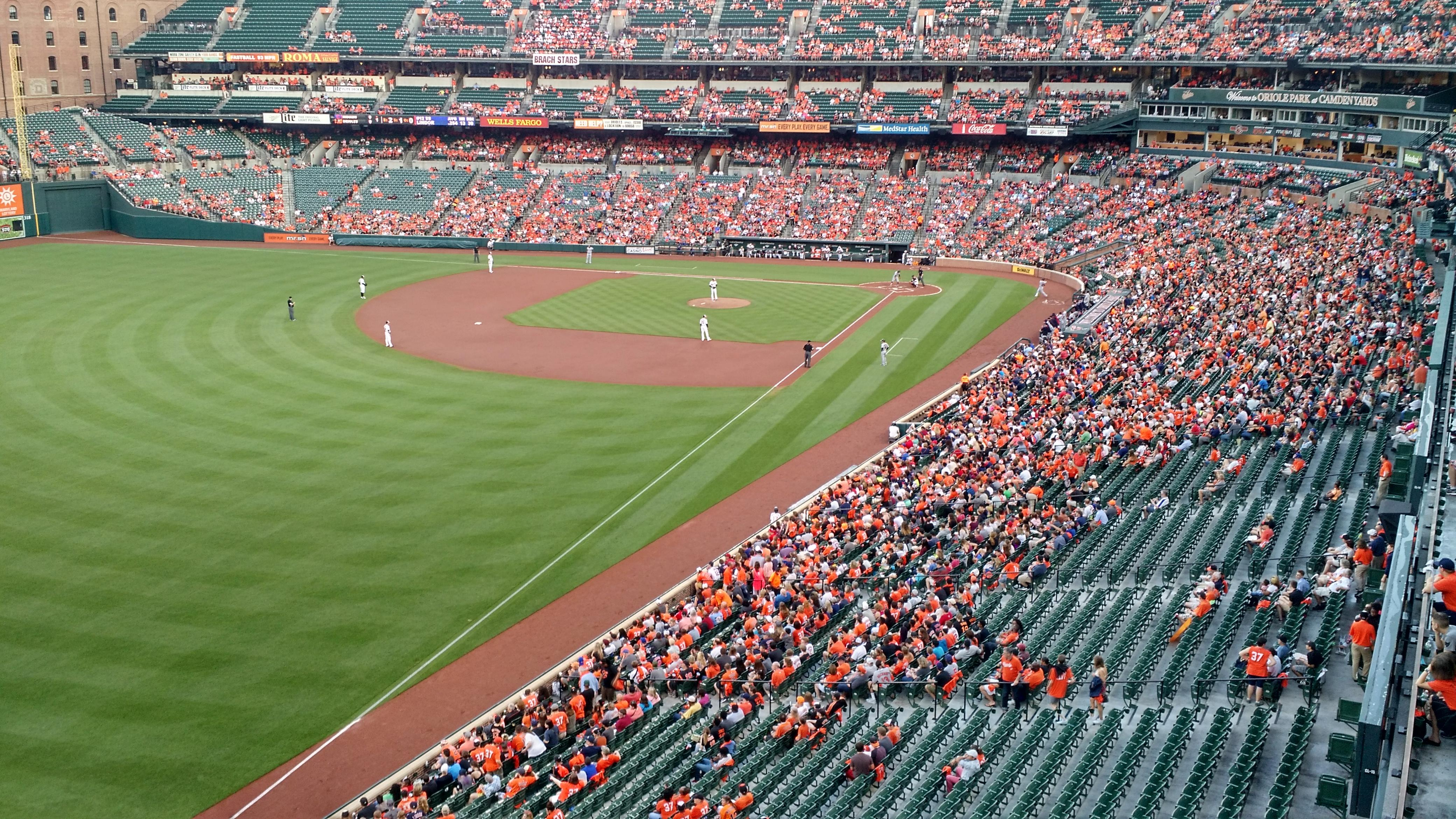 Oriole Park at Camden Yards Section 376 Row 1 Seat 1