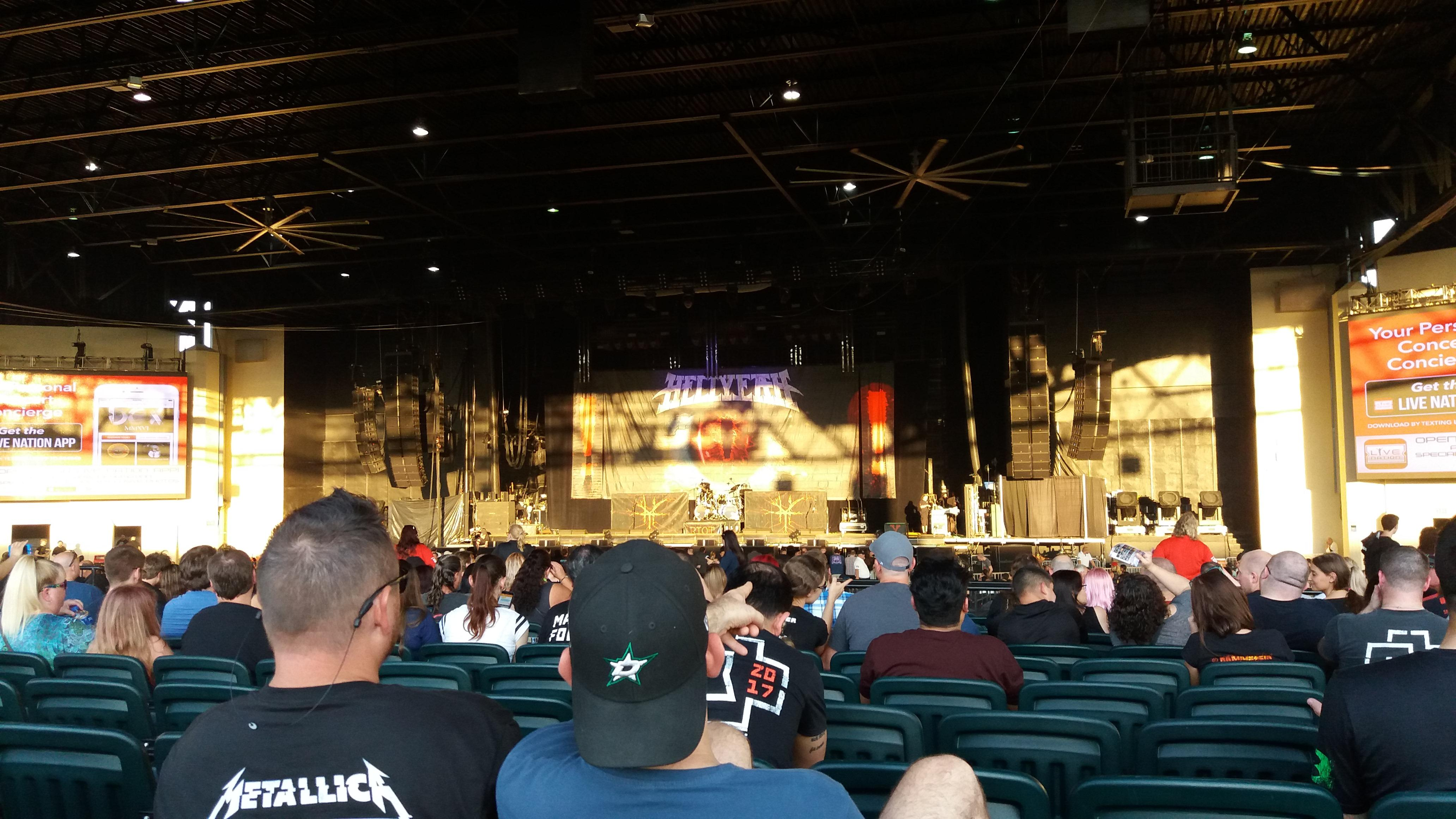 Dos Equis Pavilion, section 202, row V, seat 13 - RAMMSTEIN