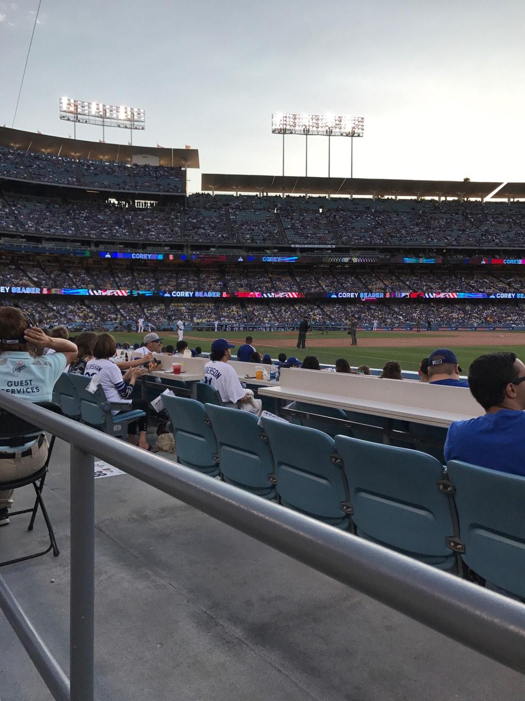 Dodger Stadium Section 38FD Row A Seat 8