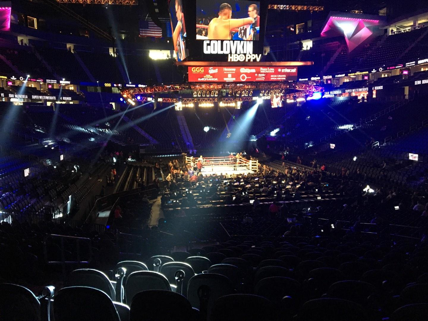 T-Mobile Arena Section 20 Row N Seat 5