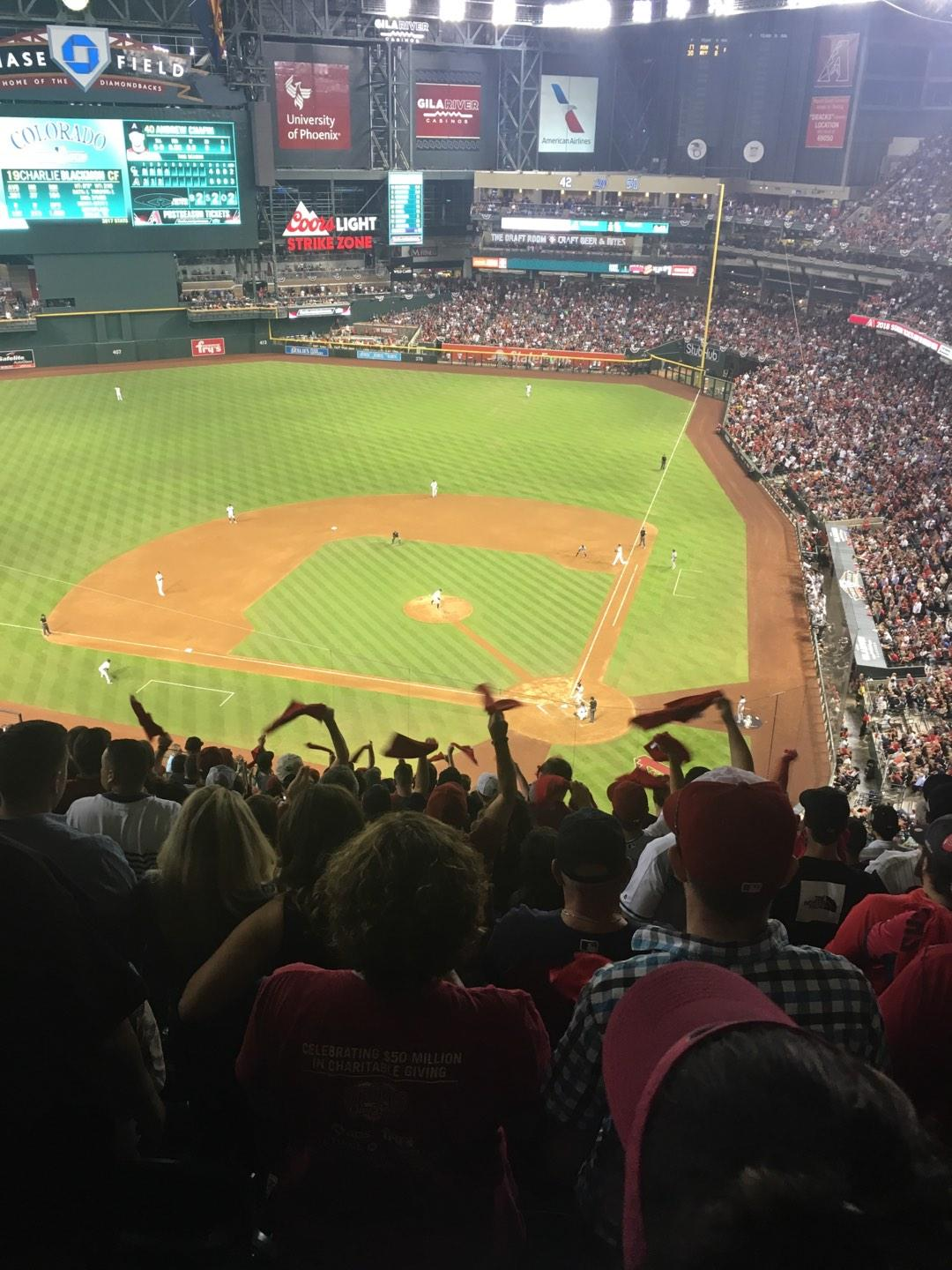Chase Field Section 319 Row 23 Seat 11