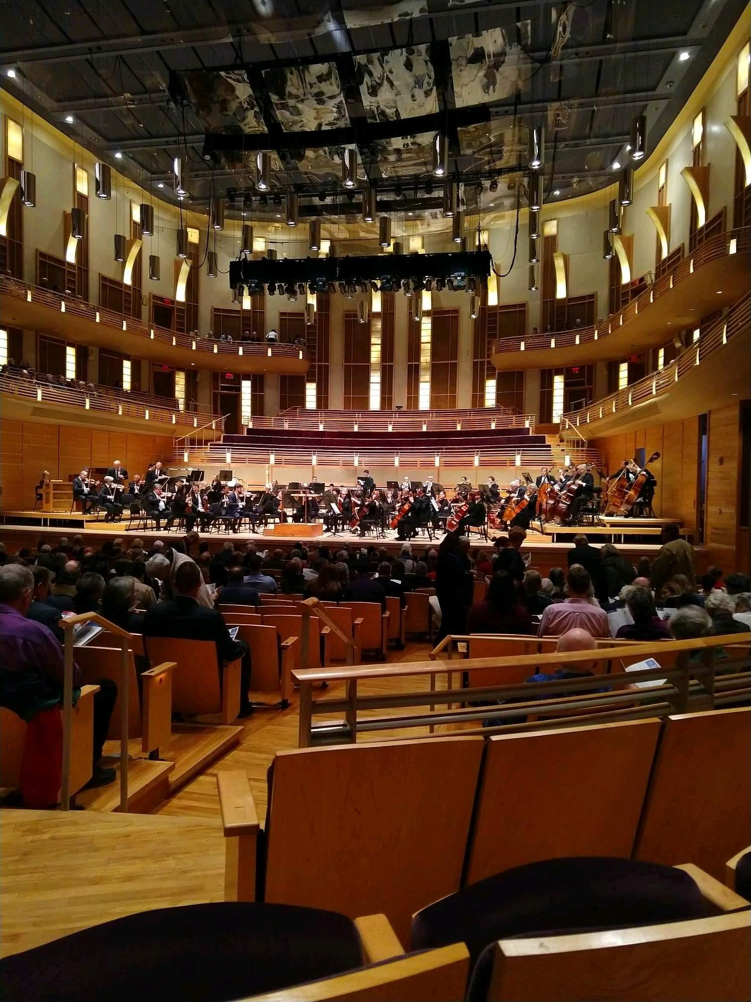The Music Center at Strathmore Section Orchestra Tier Right Row CC Seat 4