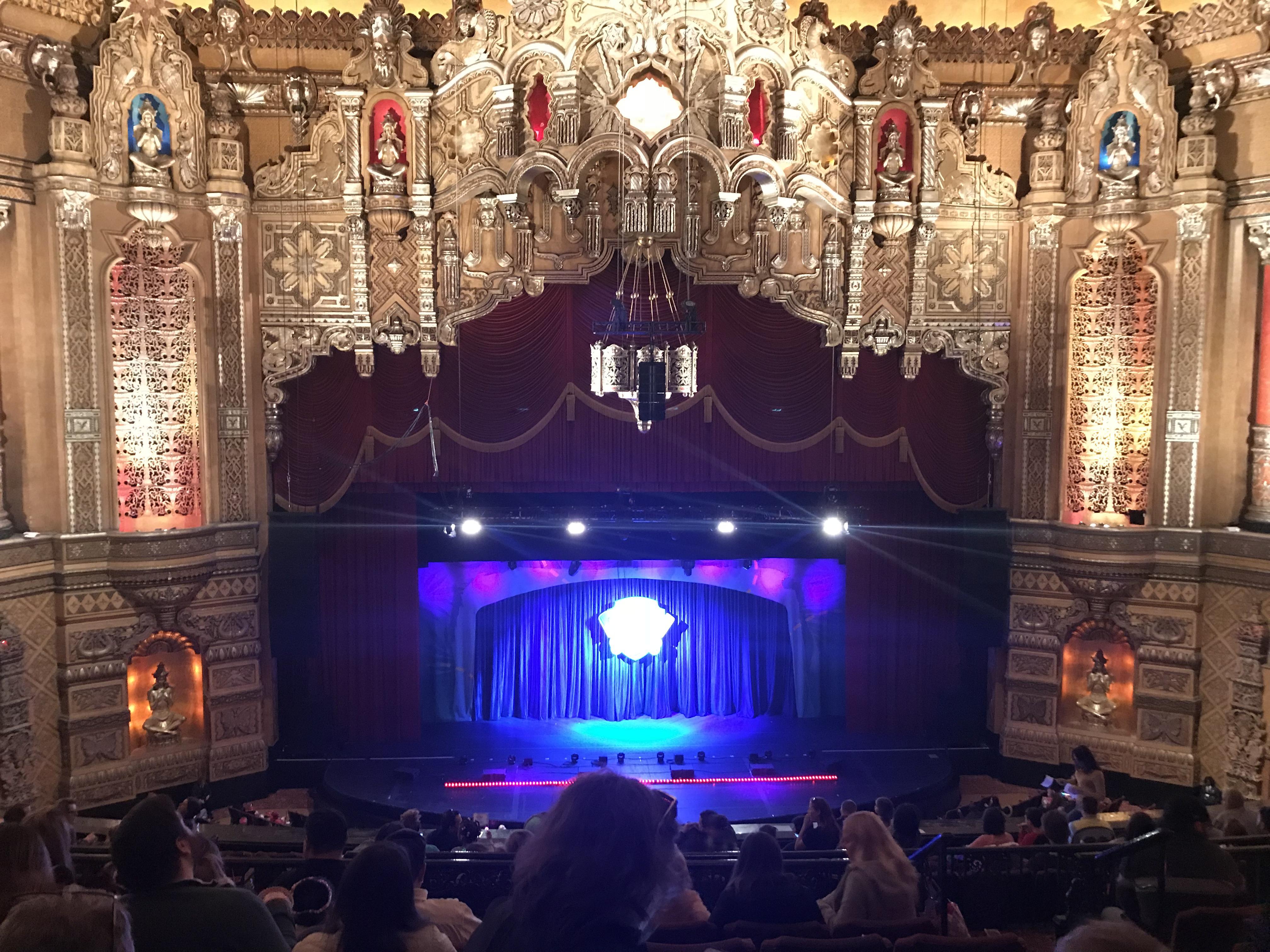 Fox Theatre (Detroit) Section GA3 Row G Seat 314