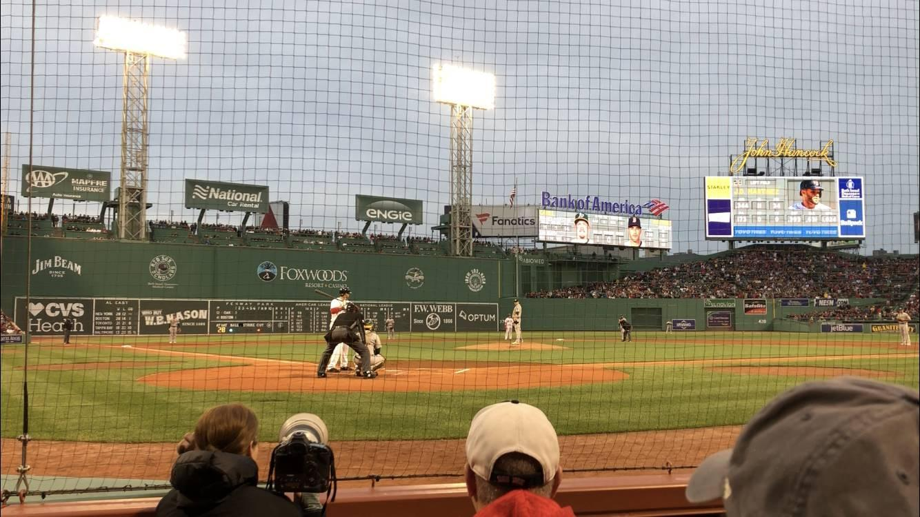 Fenway Park Section Field Box 42 Row A Seat 1