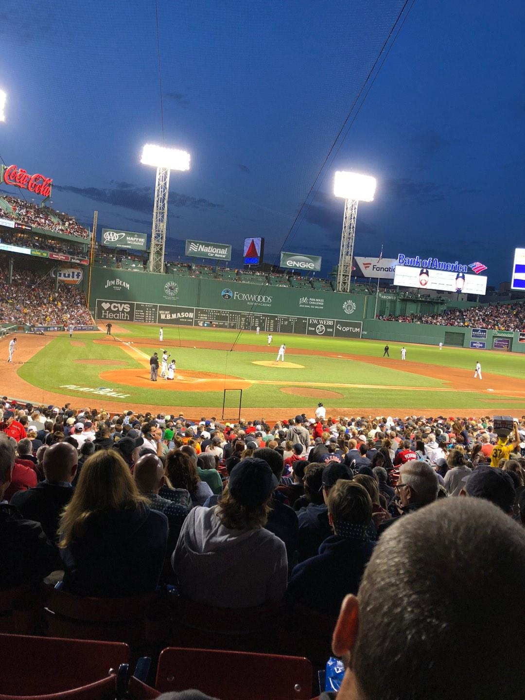 Fenway Park Section Loge Box 125 Row MM Seat 9