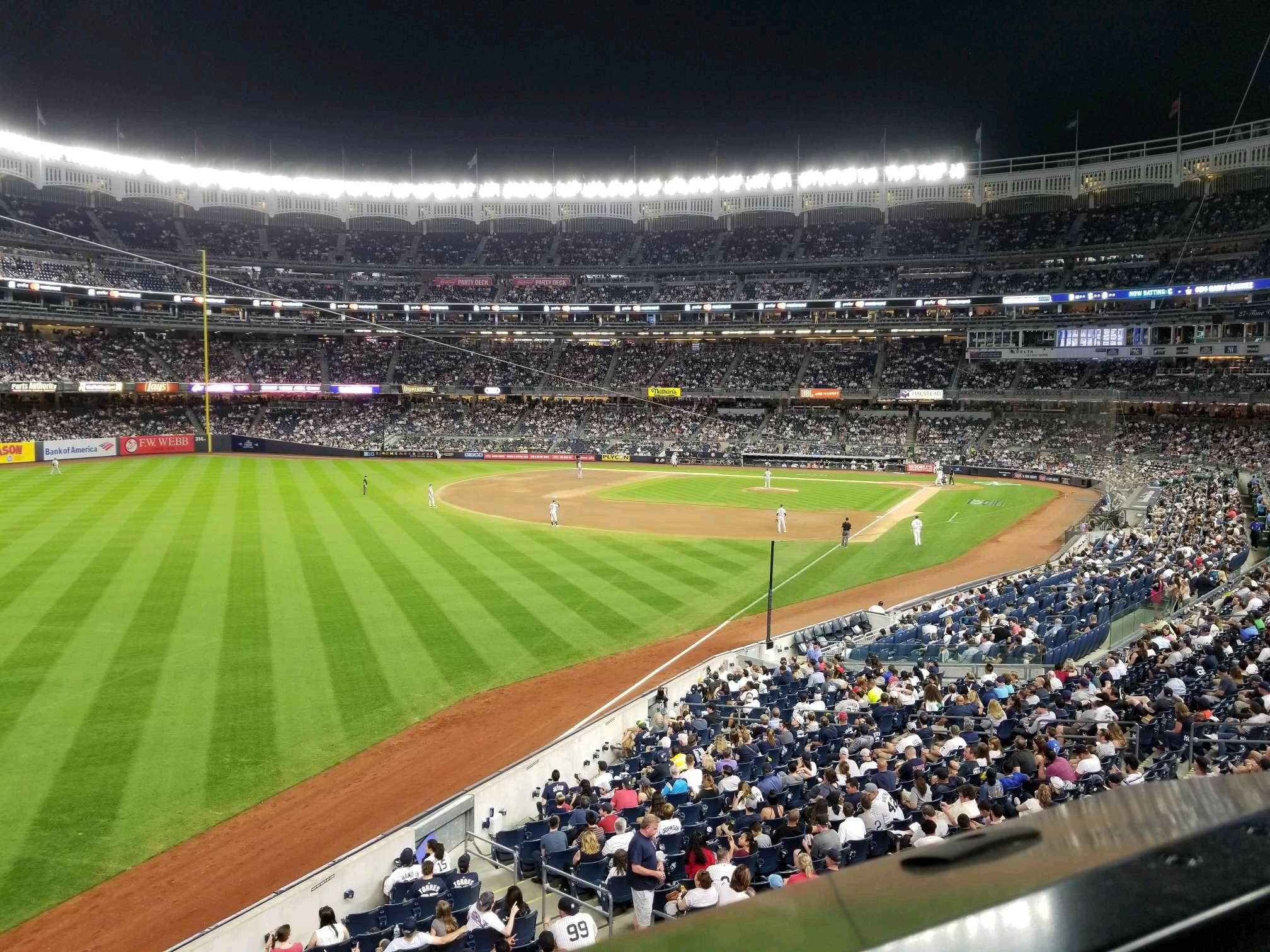 Yankee Stadium Section 232A Row 1 Seat 3