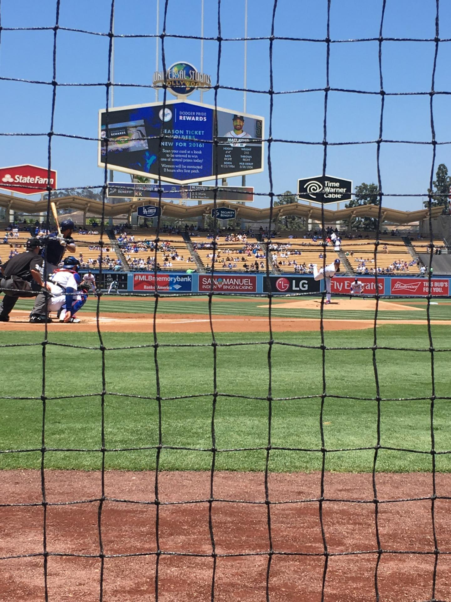 Dodger Stadium Section 2DG Row AA Seat 1