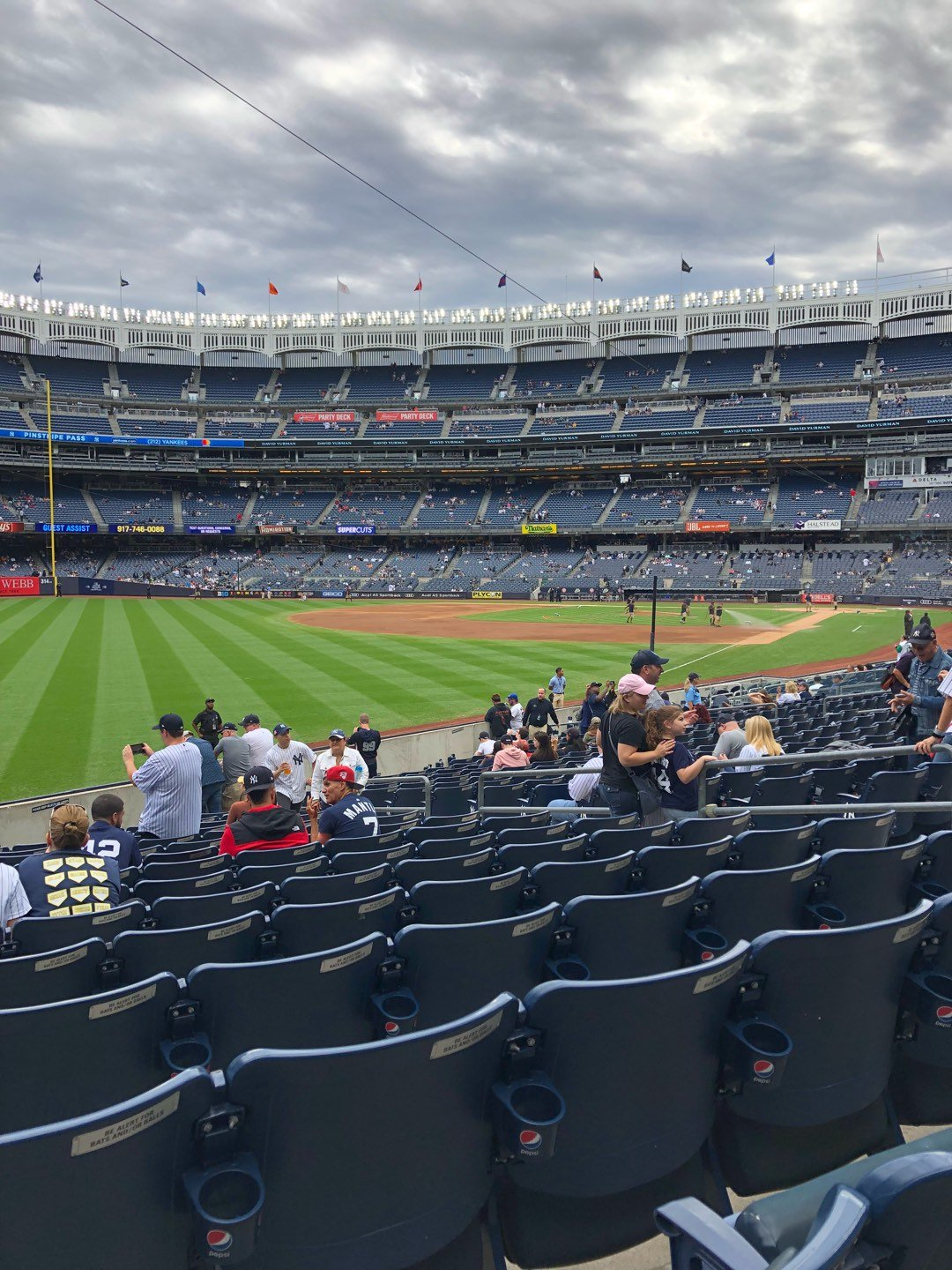 Yankee Stadium Section 131 Row 15 Seat 9