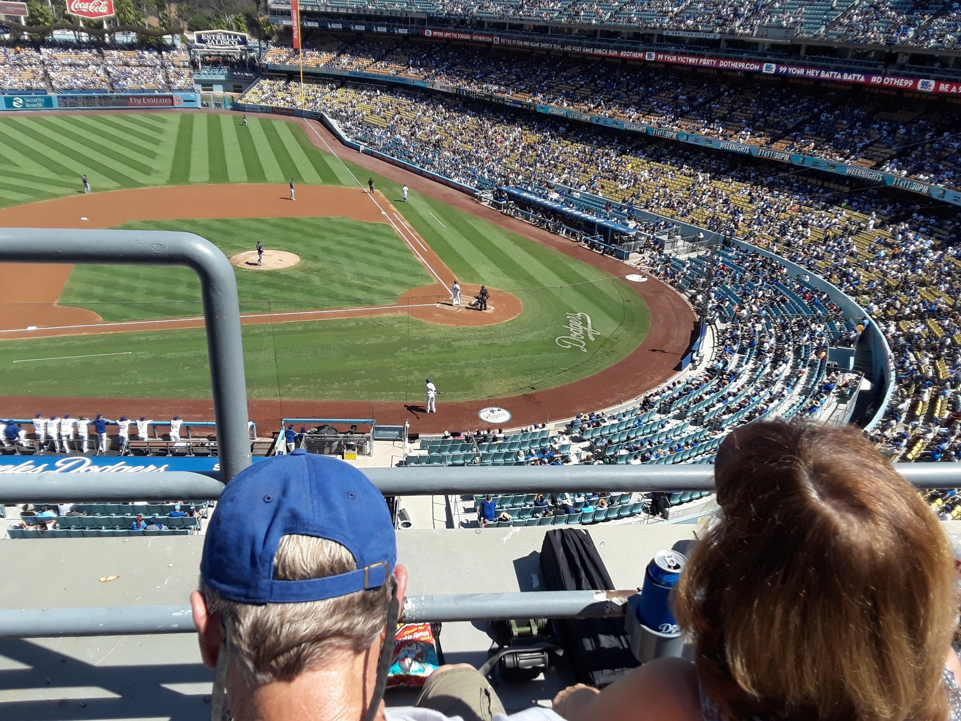 Dodger Stadium Section 11RS Row B Seat 19