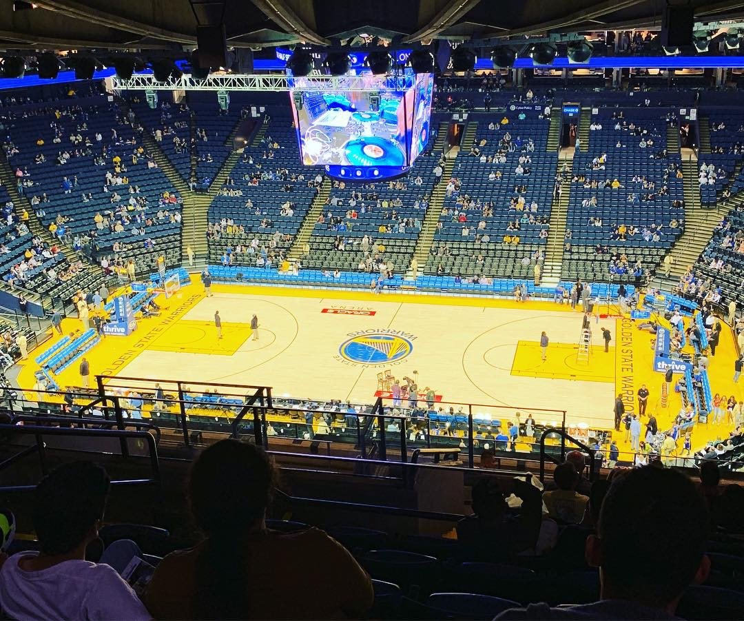 Oakland Arena Section 231 Row 16 Seat 13 Golden State Warriors