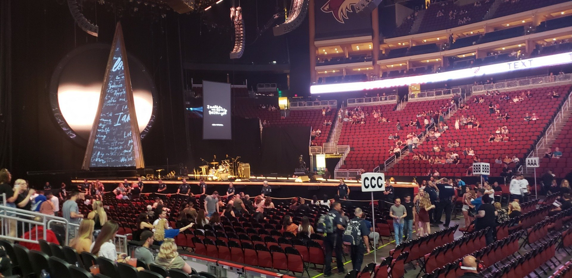 Gila River Arena Section 101 Row F Seat 2