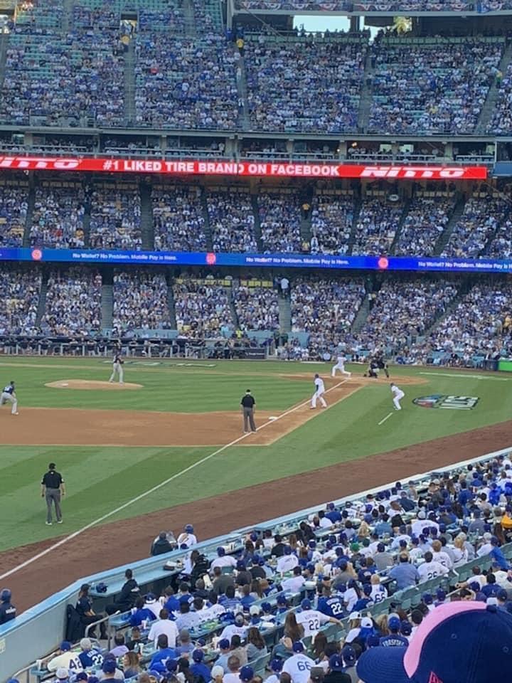 Dodger Stadium Section 161LG Row C Seat 8