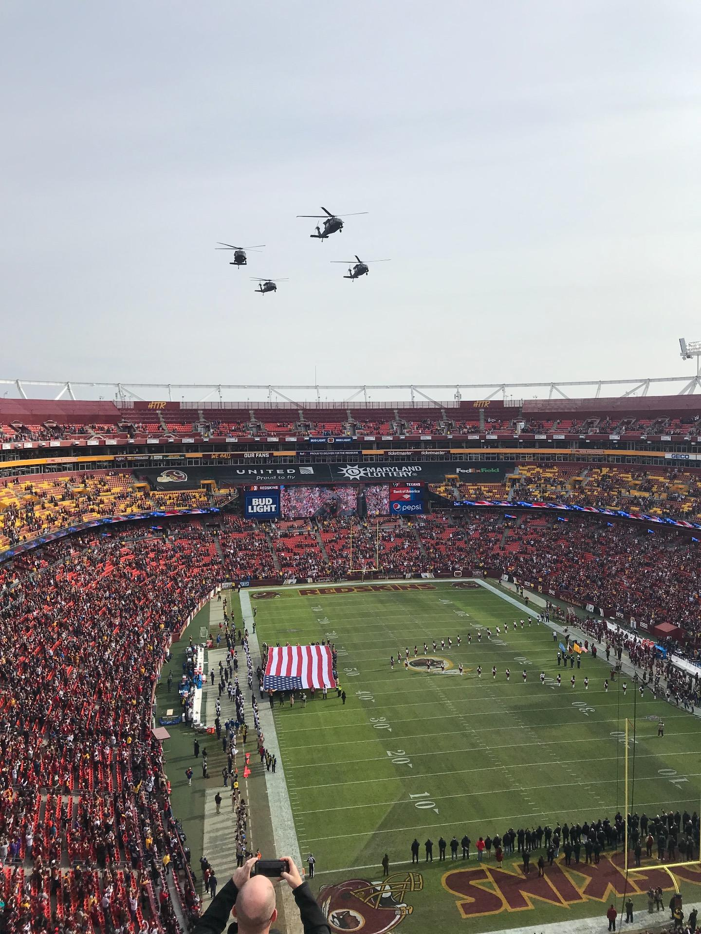 FedEx Field Section 416 Row 6 Seat 8