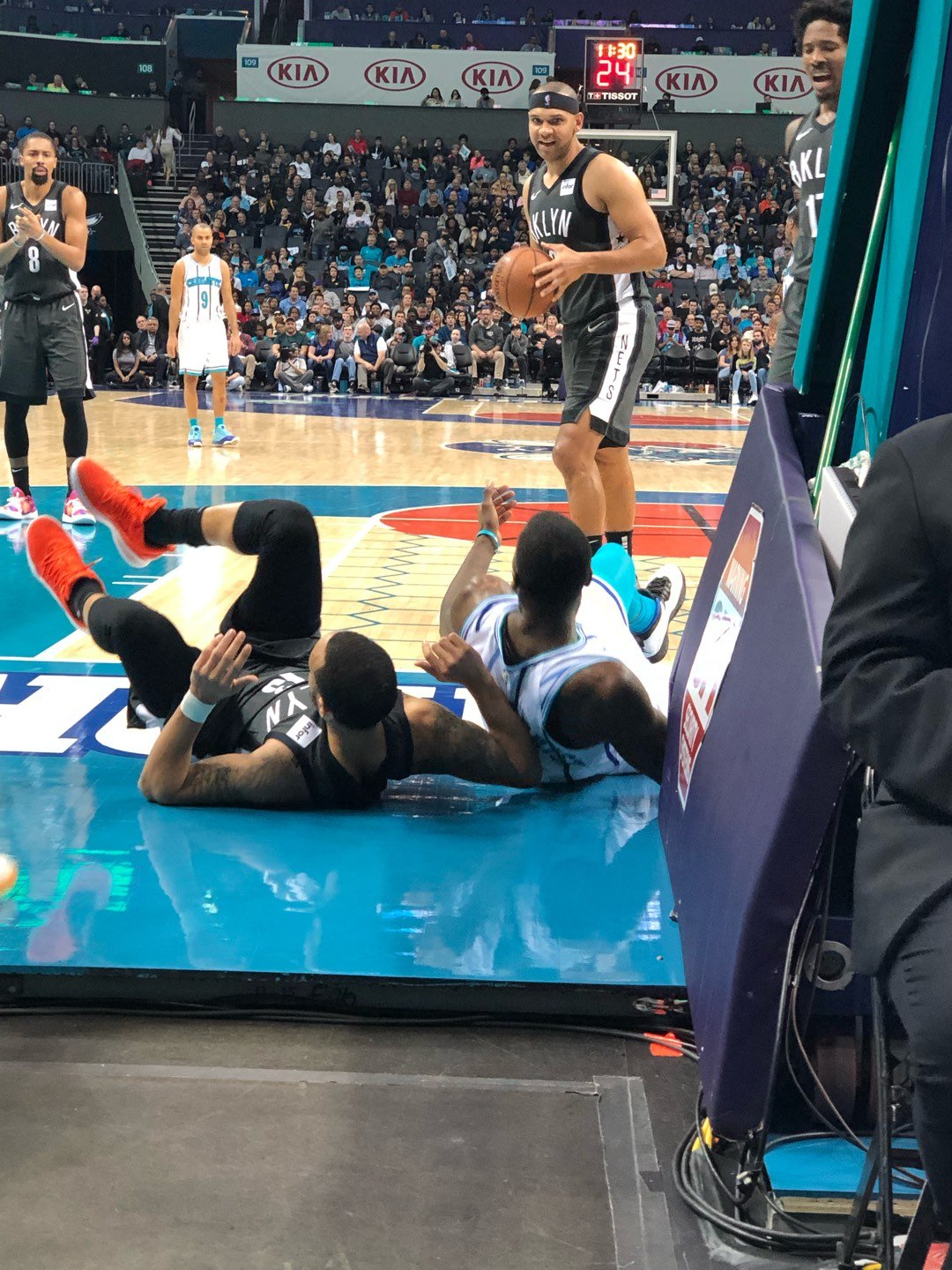 Spectrum Center Section 101 Row 2A Seat 1
