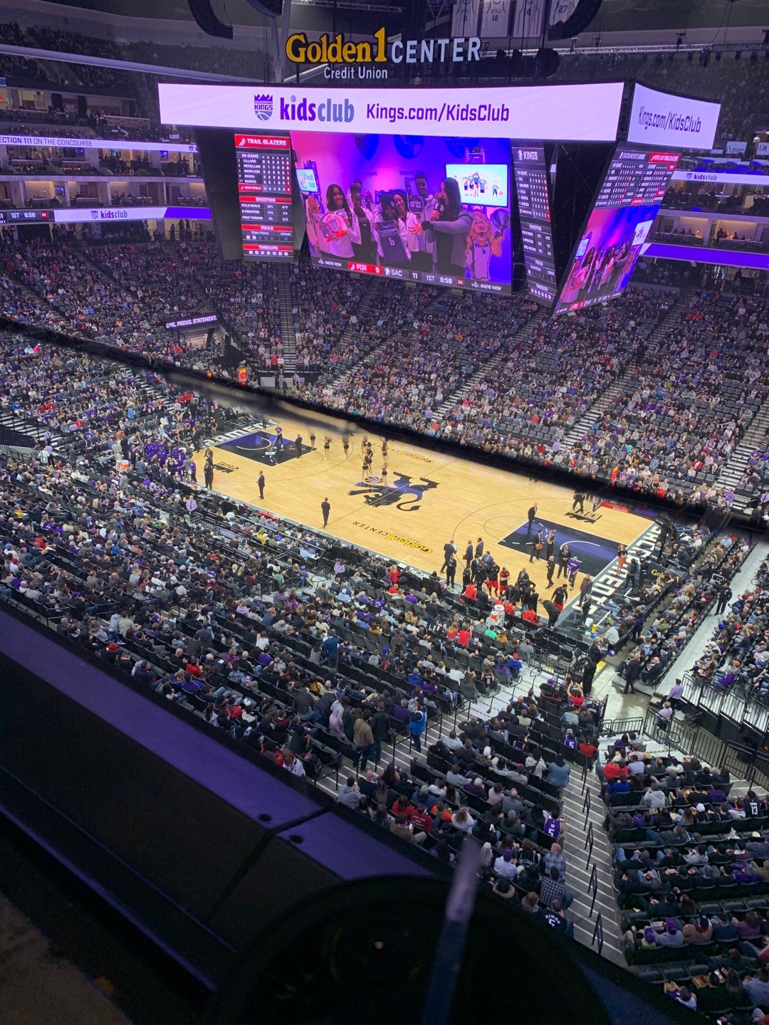 Golden 1 Center Section 203 Row A Seat 8
