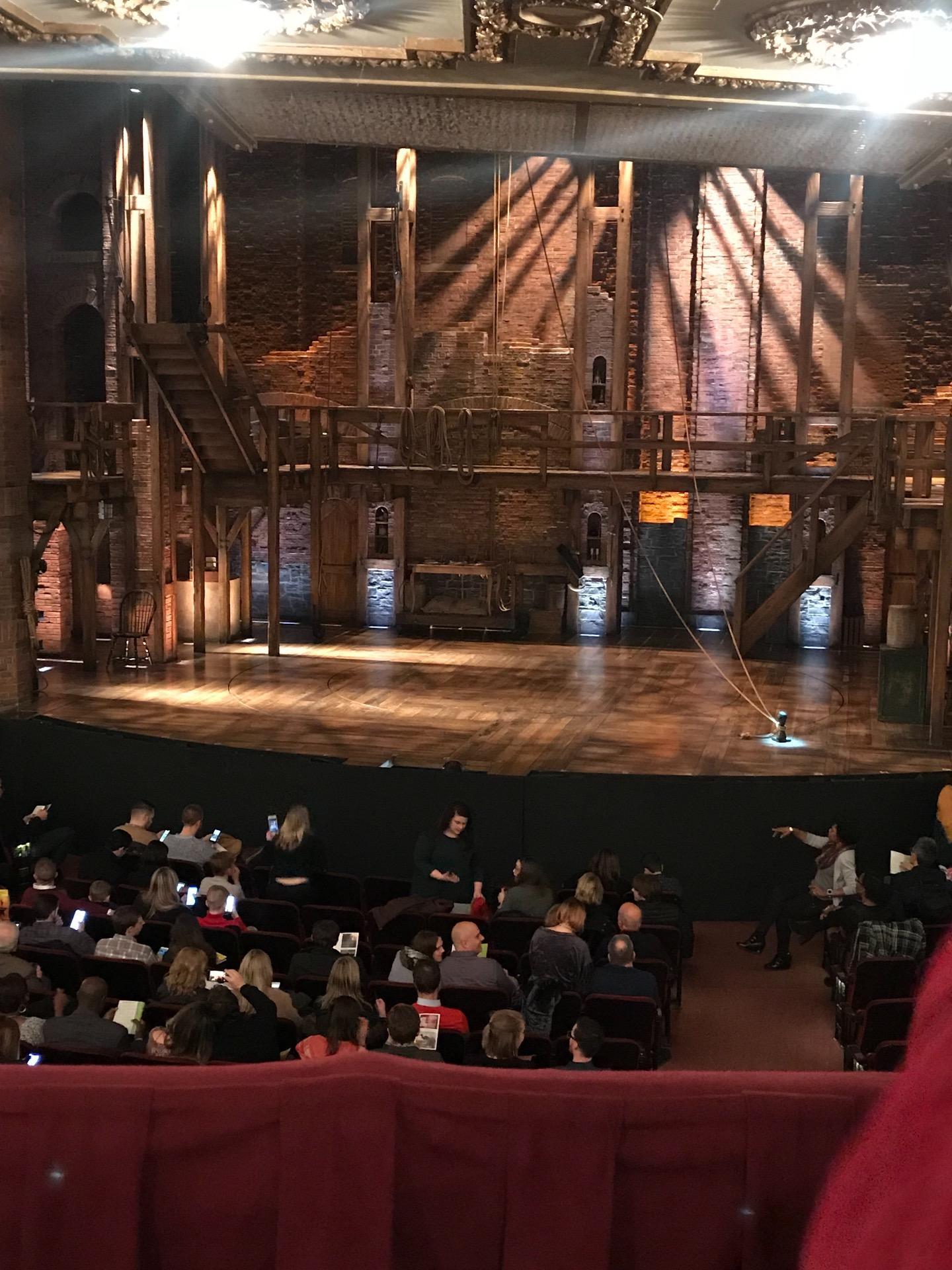 CIBC Theatre Section DRCR-RC Row B Seat 222