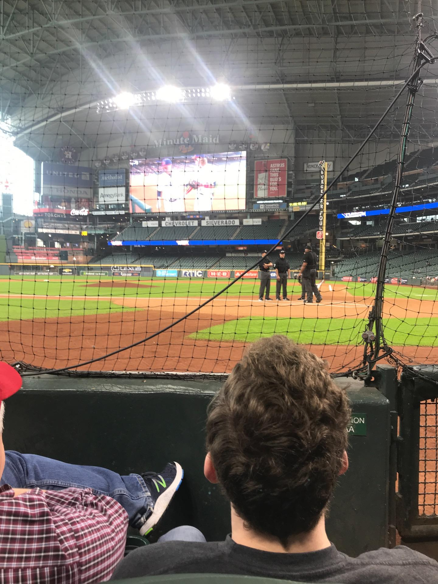 Minute Maid Park Section AA Row 2 Seat 6