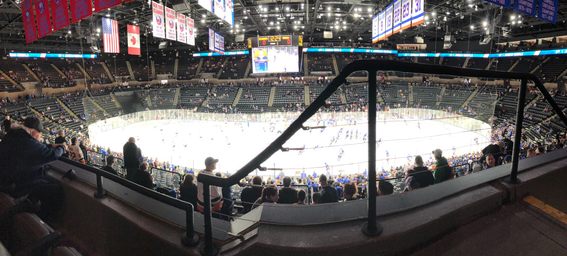 Nassau Veterans Memorial Coliseum Section 223 Row 2 Seat 1