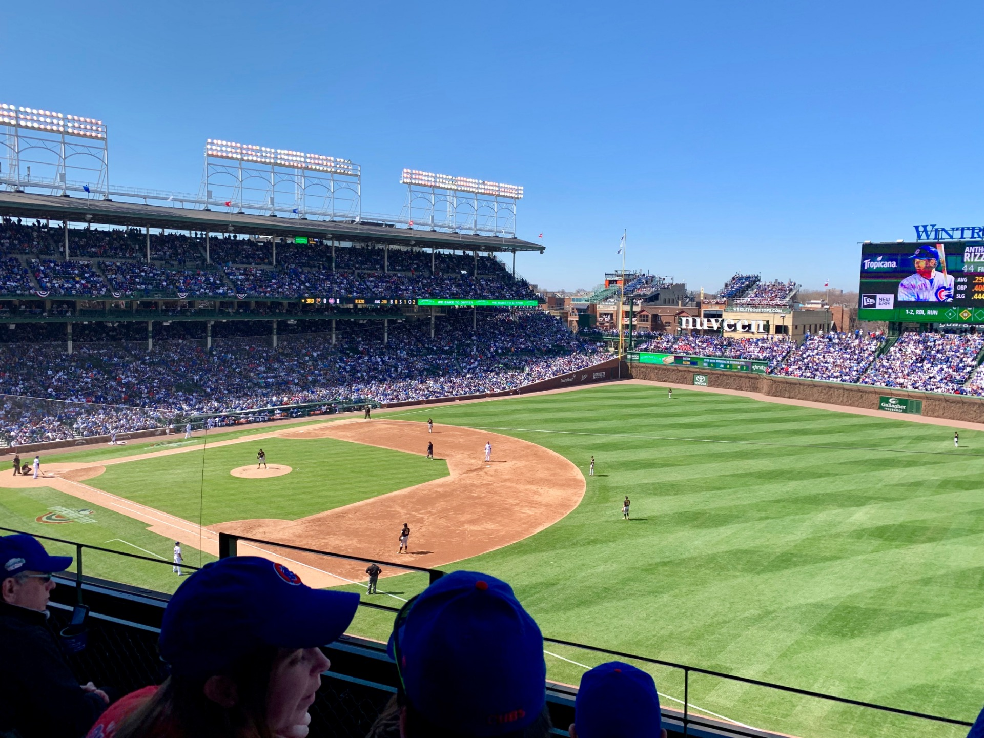 Wrigley Field Section 329R Row 3 Seat 3
