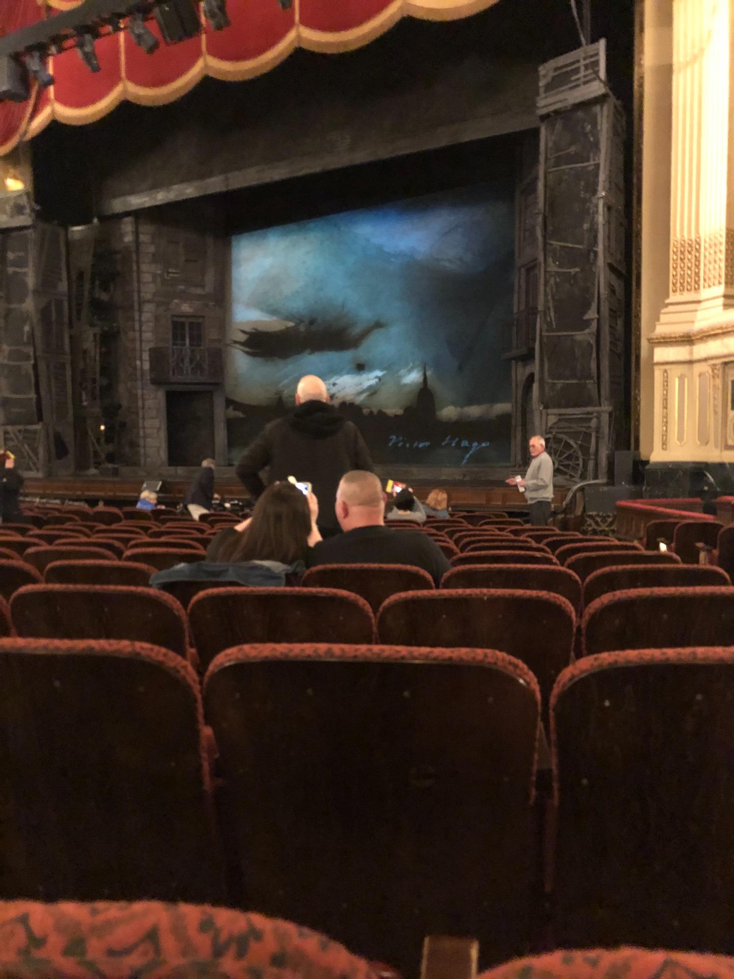 Citizens Bank Opera House Section Orchestra Right Center Row K Seat 26