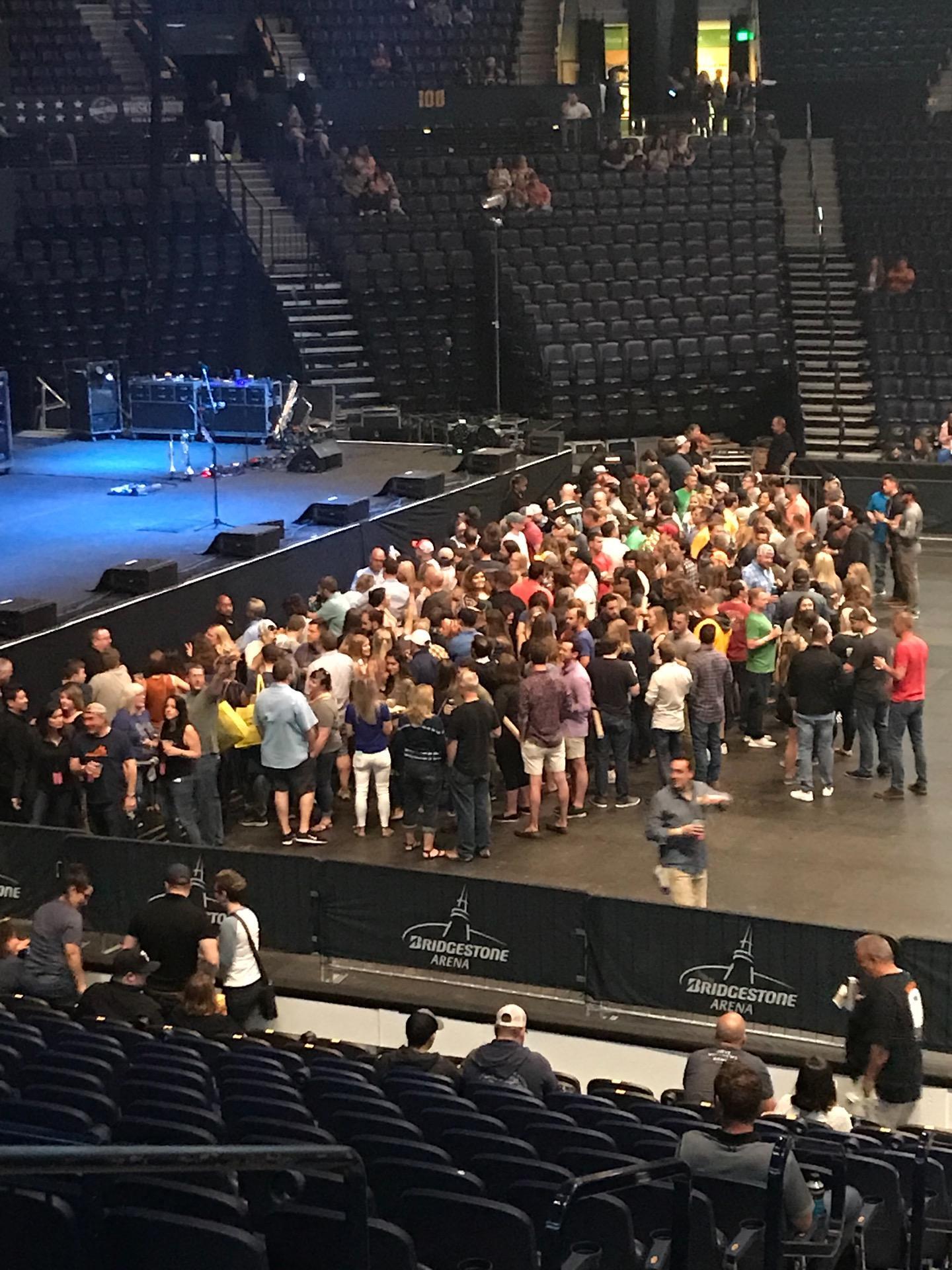 Bridgestone Arena Section 115 Row FWC Seat 14