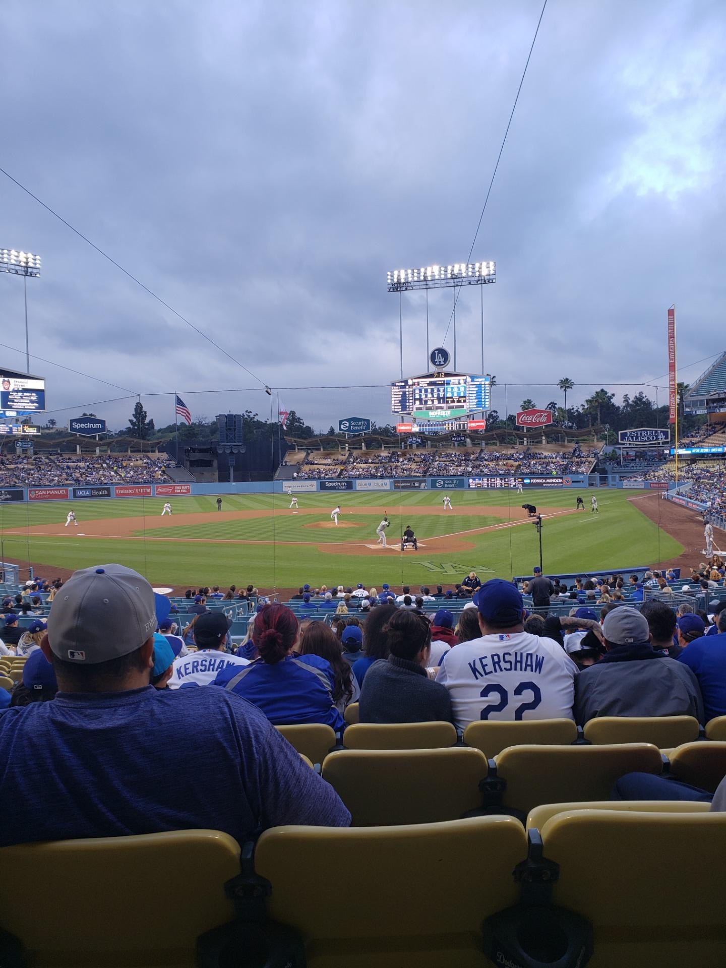 Dodger Stadium Section 3FD Row T Seat 9