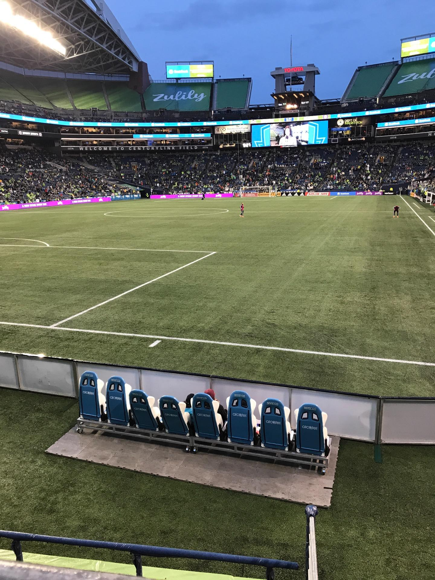 CenturyLink Field, section 145, row A, seat 3 - Seattle Sounders FC vs