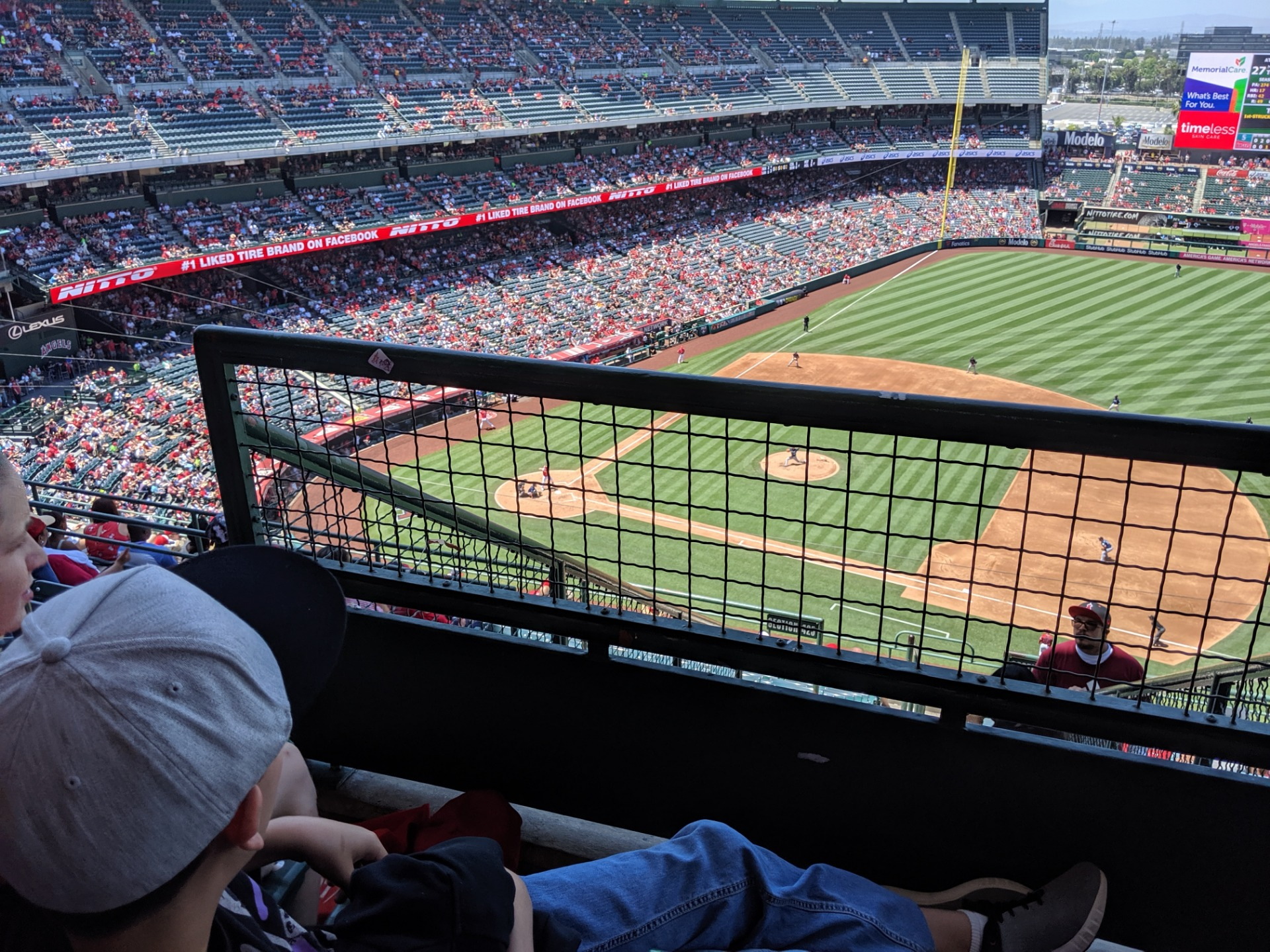 Angel Stadium, section V529, row F, seat 3 - Los Angeles