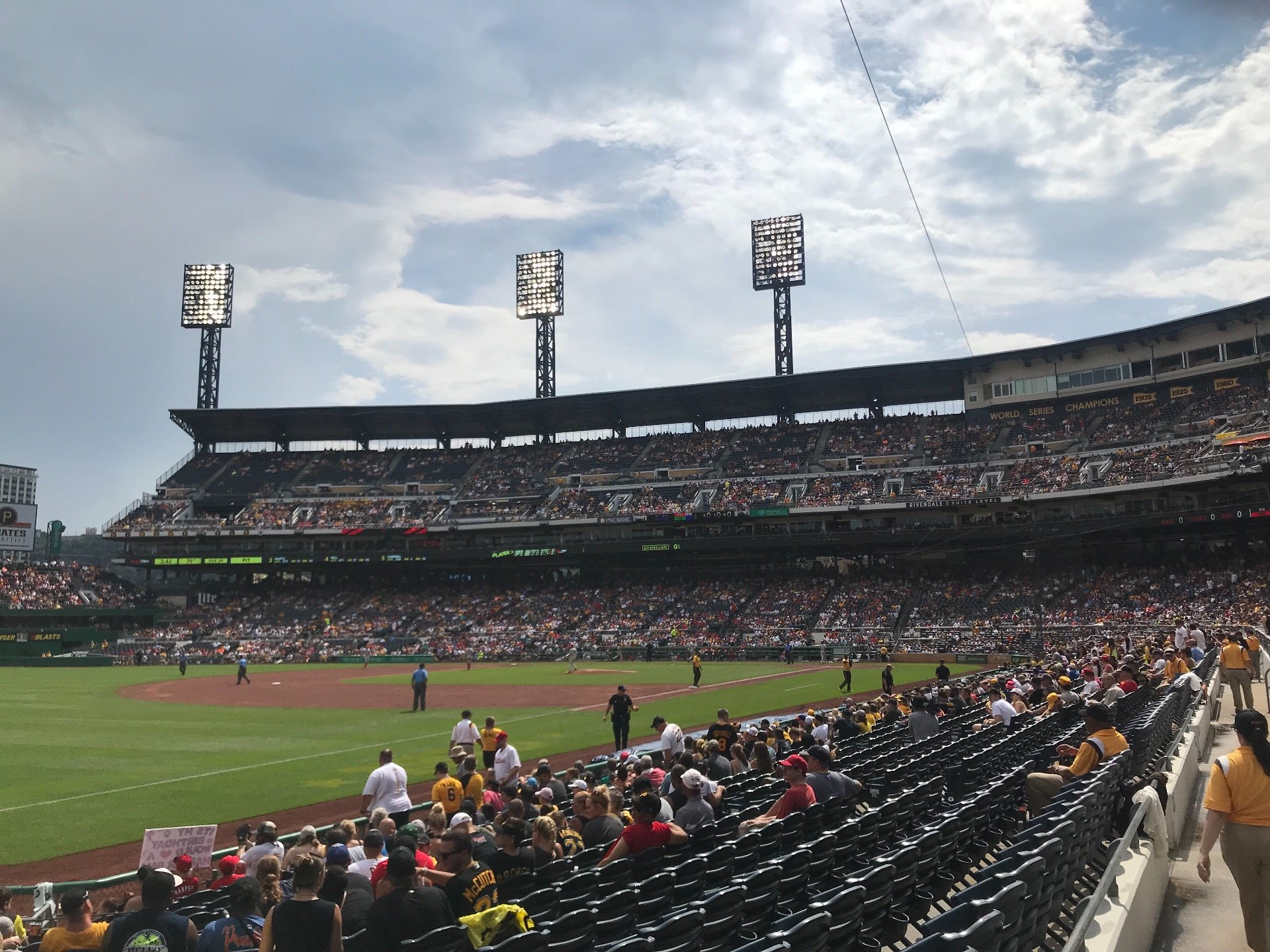 PNC Park Section 130 Row B Seat 2