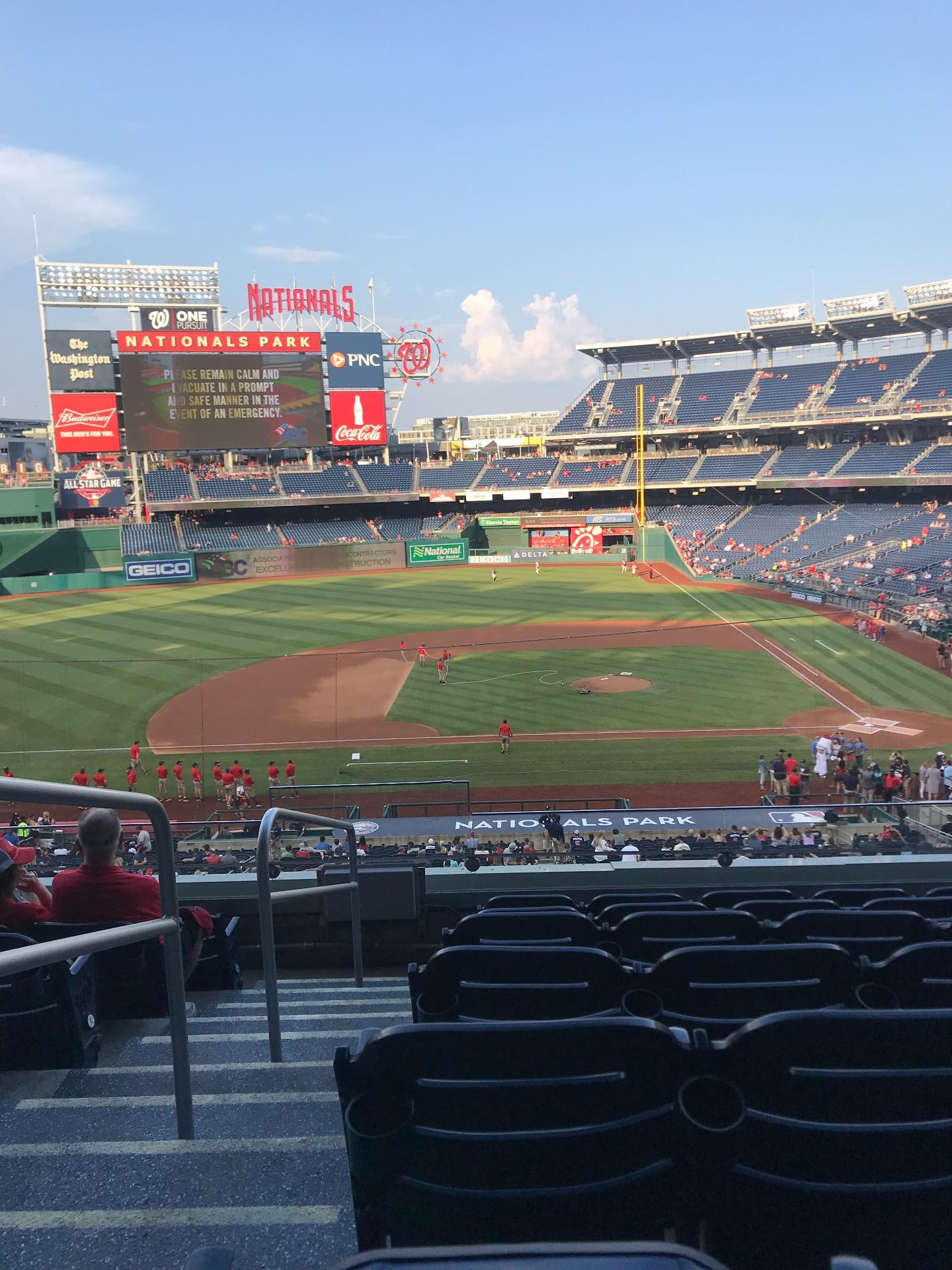 Nationals Park Section 209 Row G Seat 23