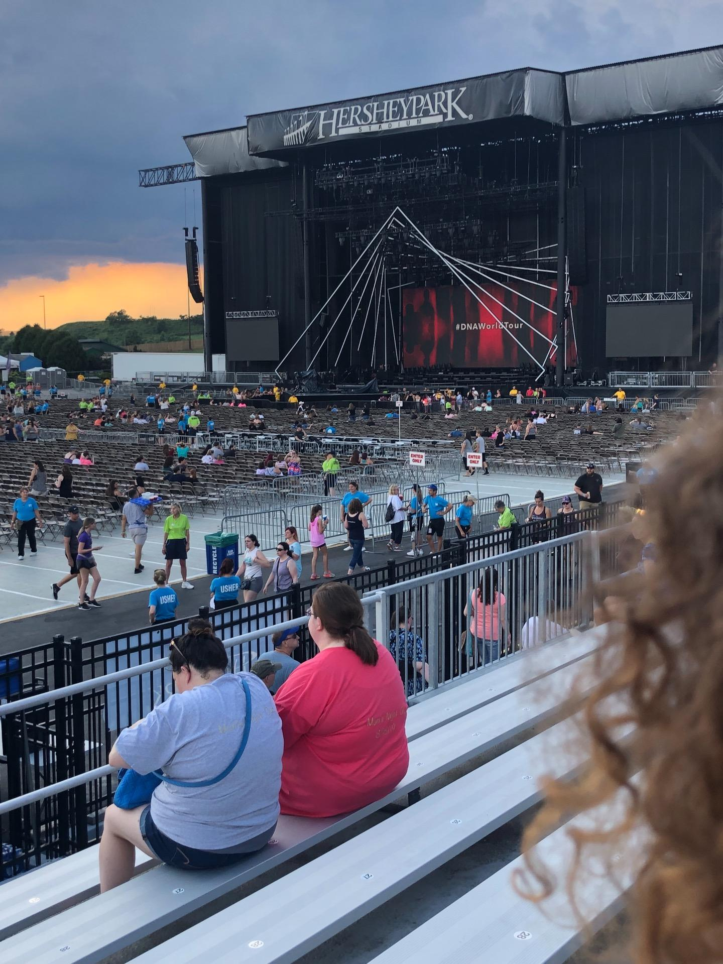 Hershey Park Stadium Section 27 Row A Seat 33