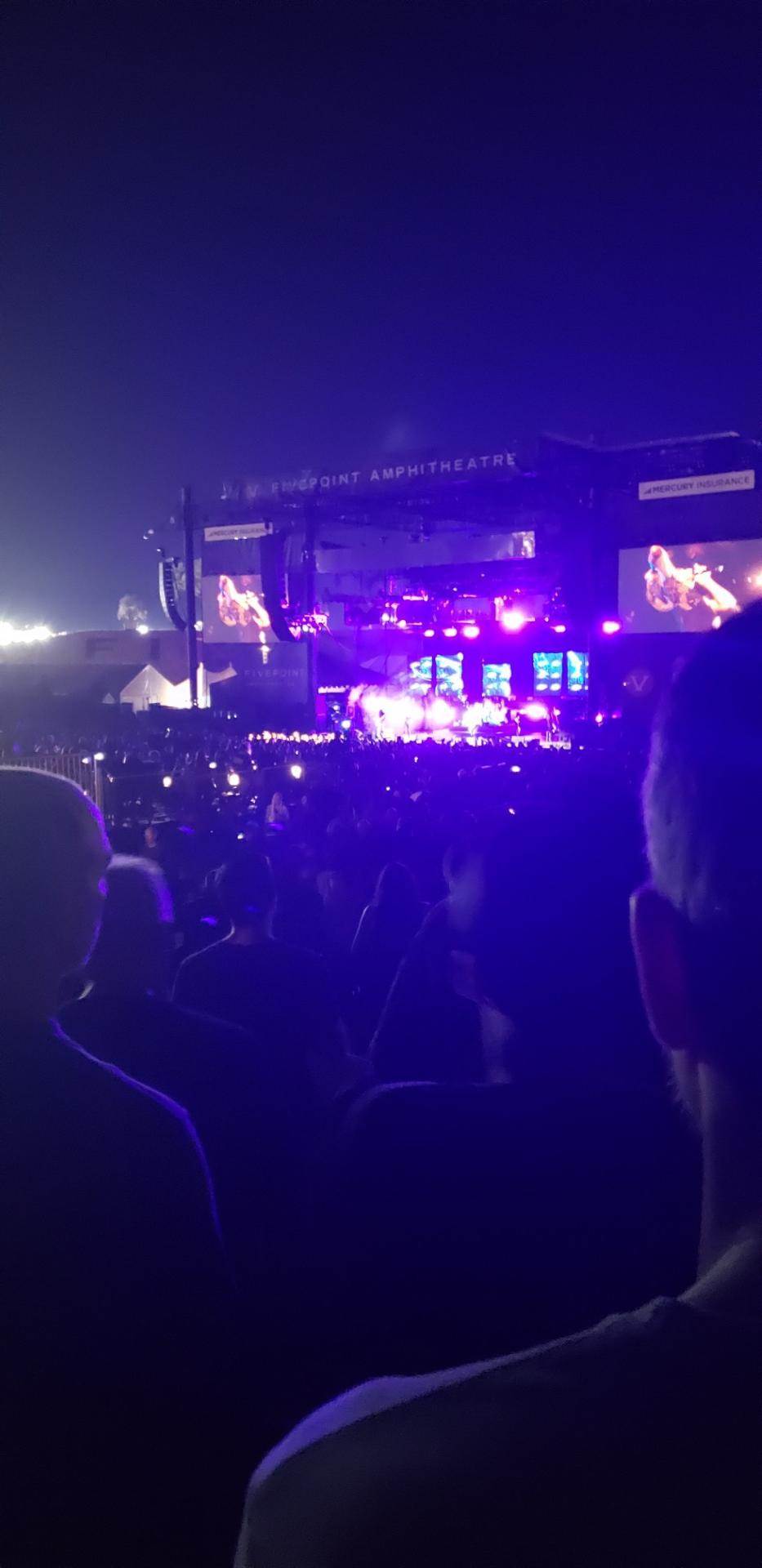 FivePoint Amphitheater Section Terrace 302 Row 8 Seat 8