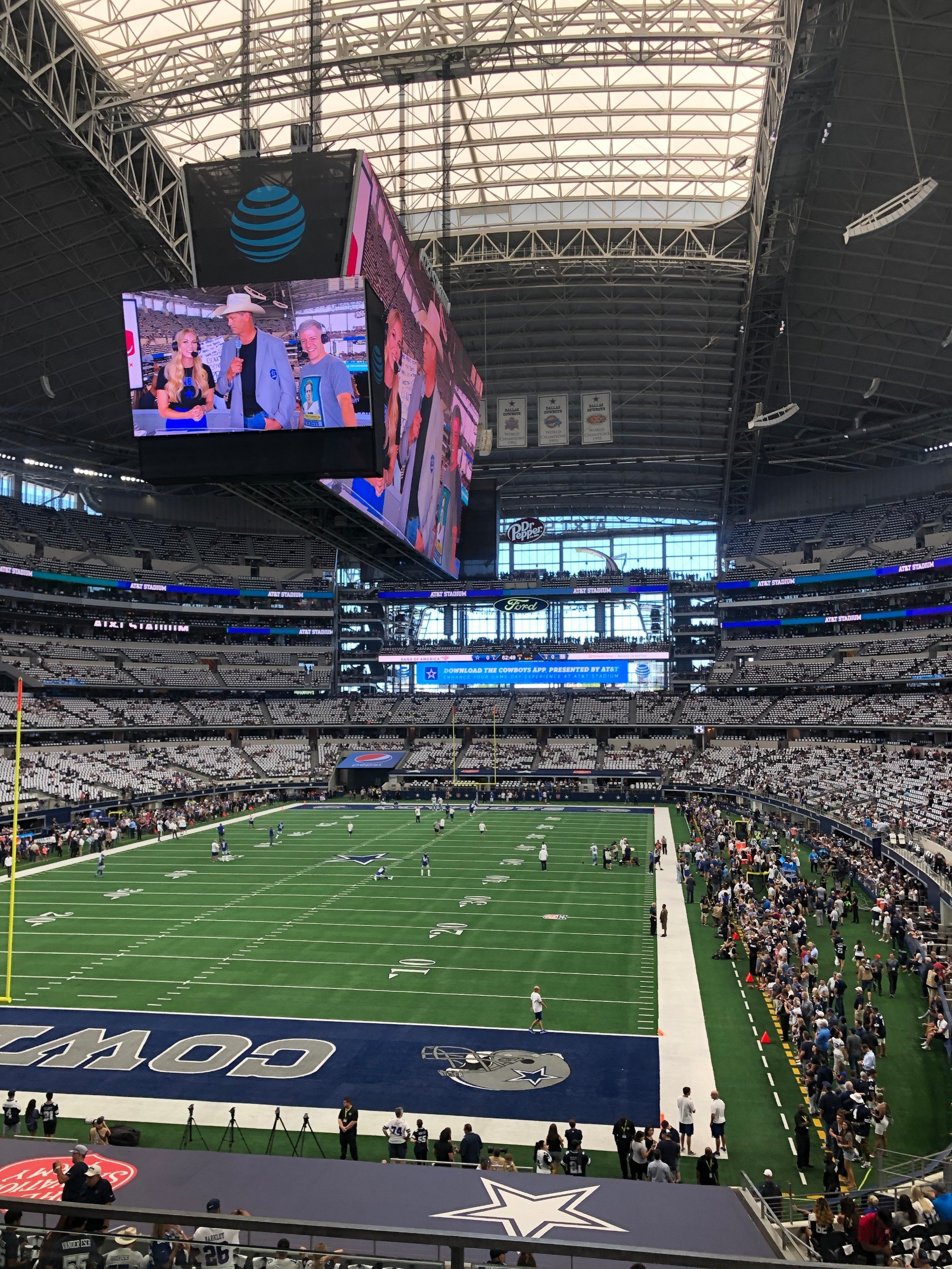 AT&T Stadium Section 220 Row 3 Seat 7