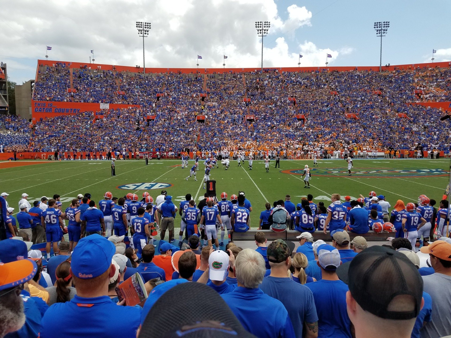 Ben Hill Griffin Stadium Section 12 Row 10 Seat 25