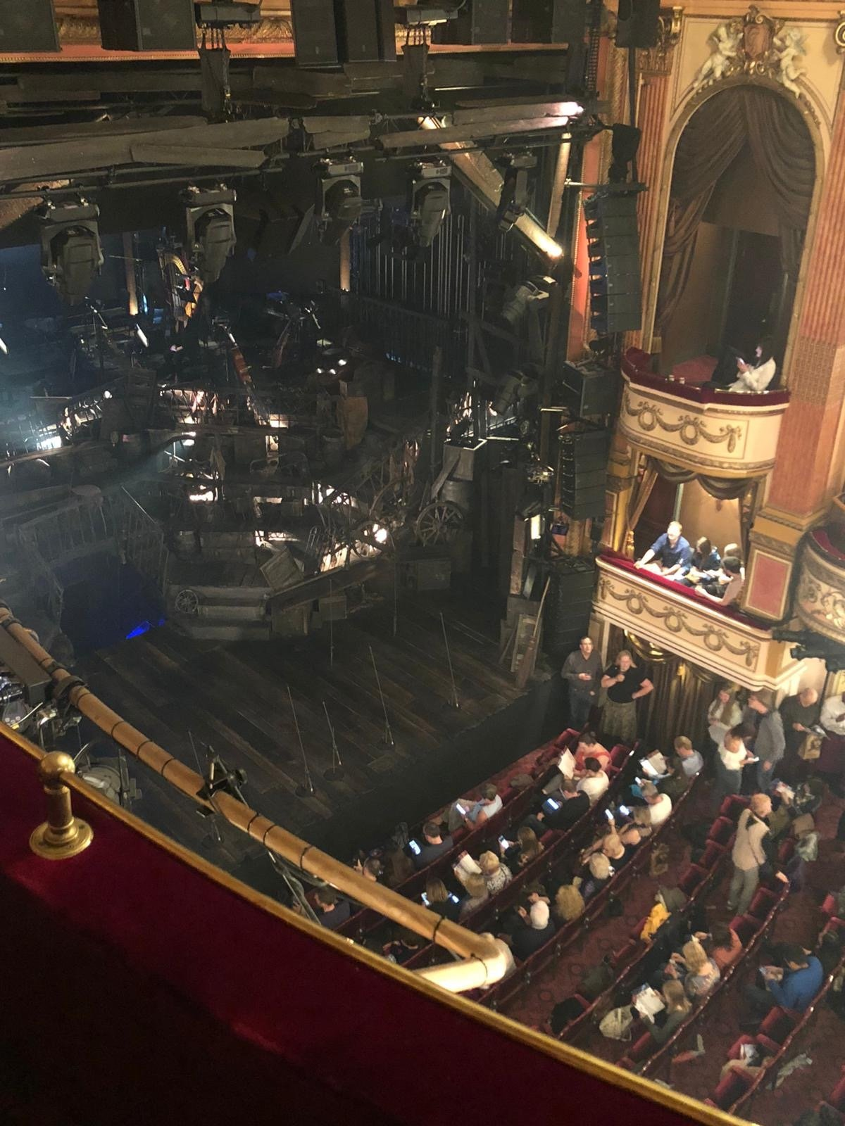 Gielgud Theatre Section Grand circle Row AA Seat 9
