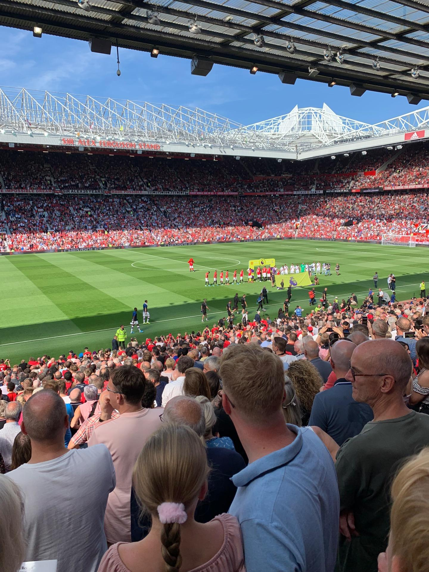 Old Trafford Section STH122 Row 26 Seat 197